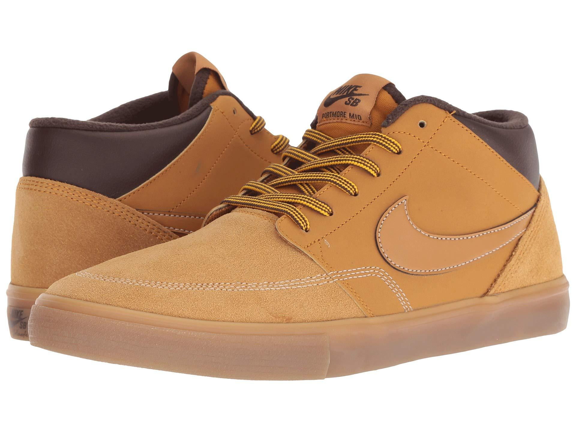 2a3da46ae03a Lyst - Nike Portmore Ii Solarsoft Mid Bota in Brown for Men - Save 25%