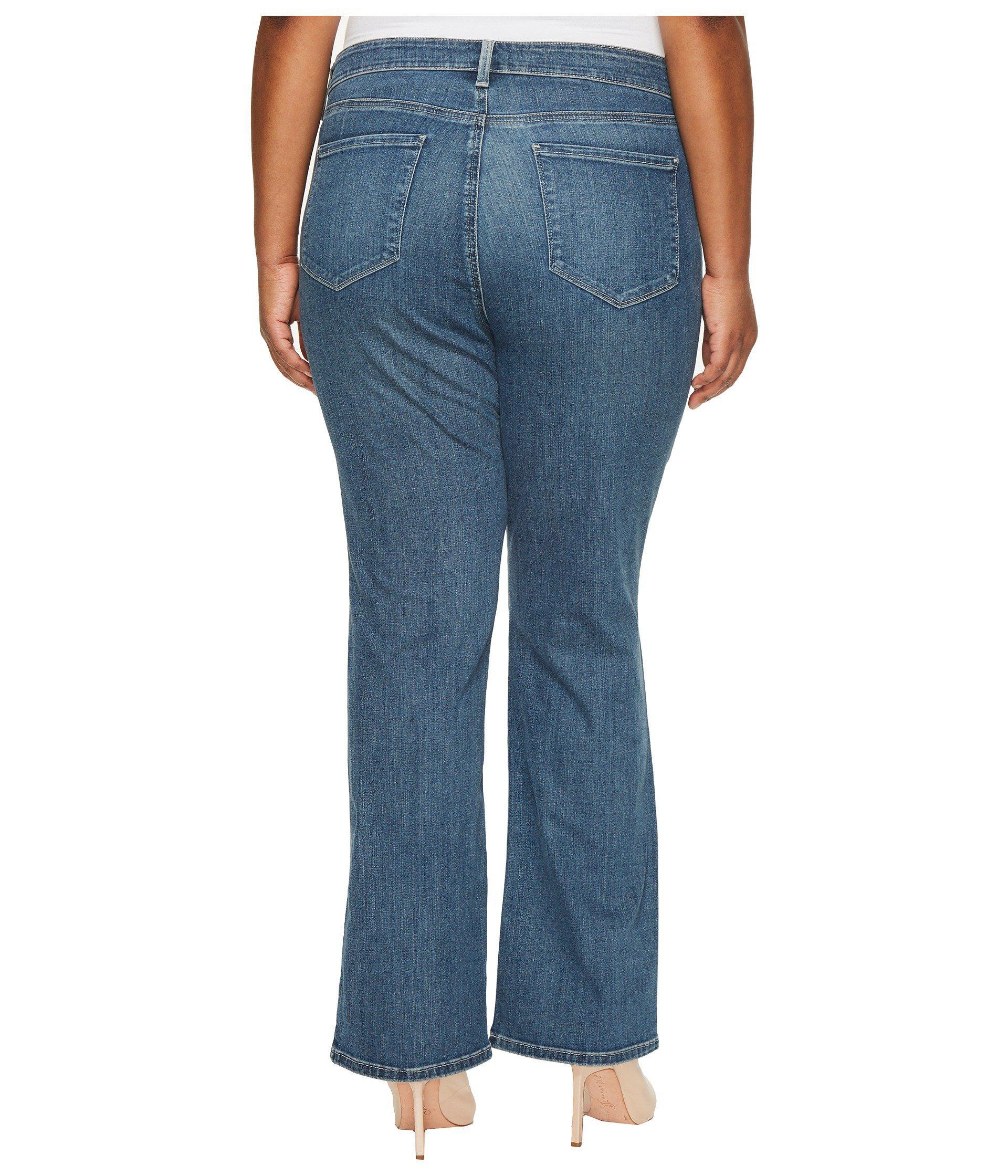 83bf464541 Lyst - NYDJ Plus Size Barbara Bootcut Jeans In Heyburn Wash in Blue