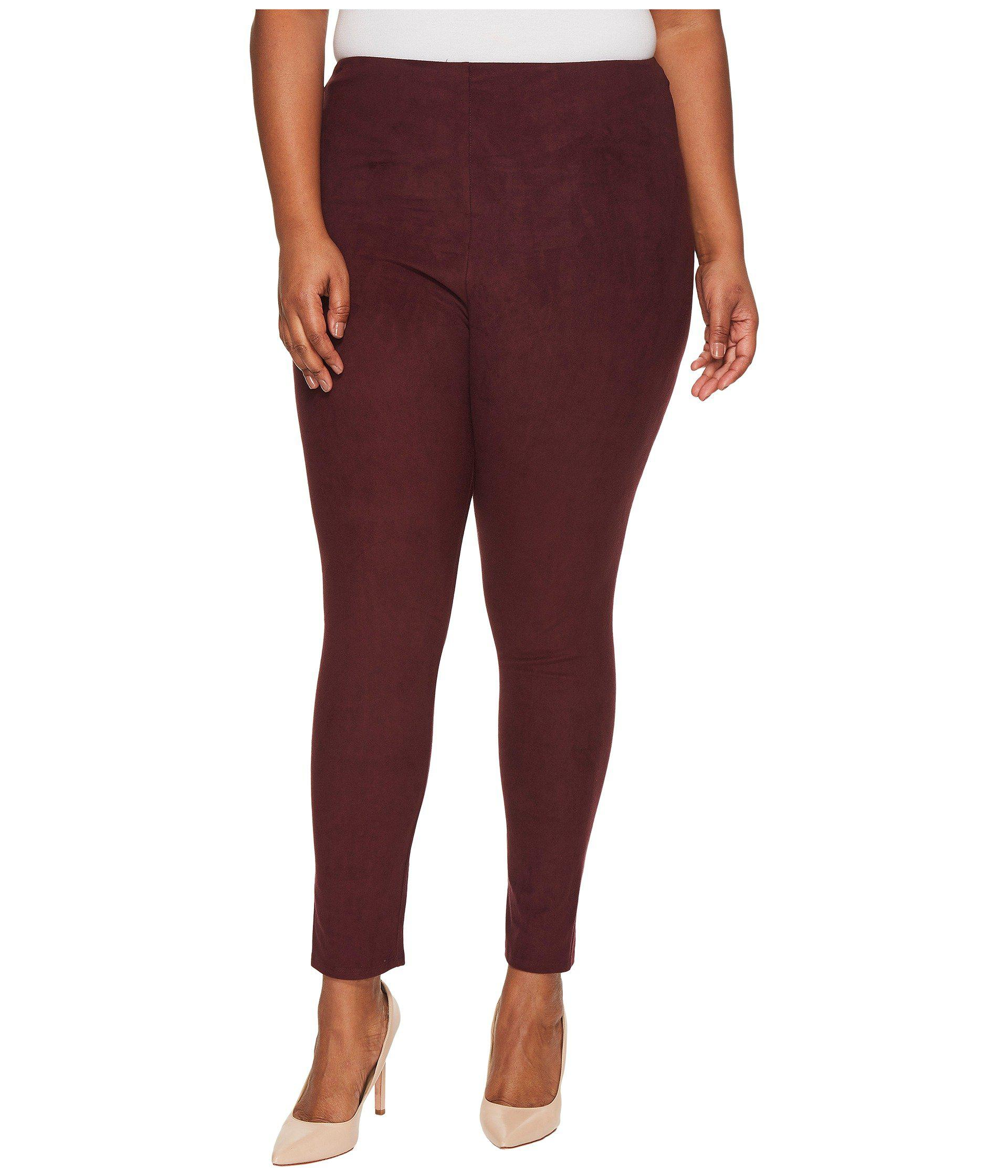 add084ac417 Lyst - Lyssé Plus Size High-waist Suede Leggings in Red - Save 7%