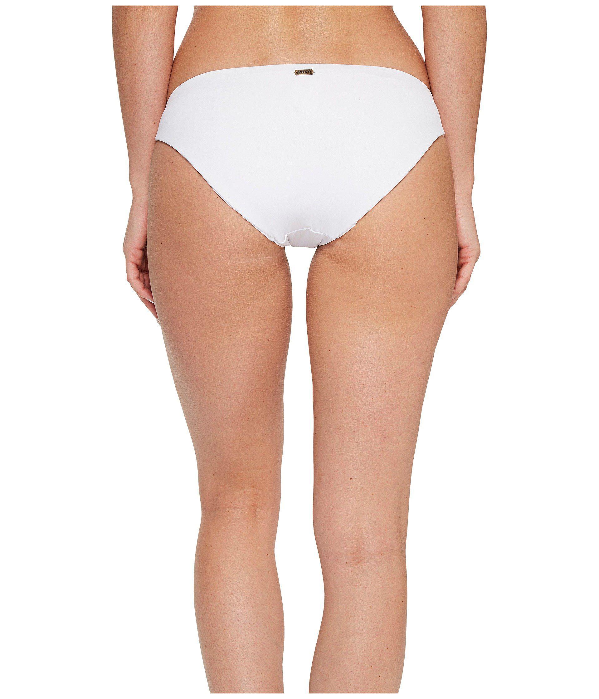 b3ffebcccbb5c Lyst - Roxy Strappy Love Reversible 70 s Bikini Bottom in White