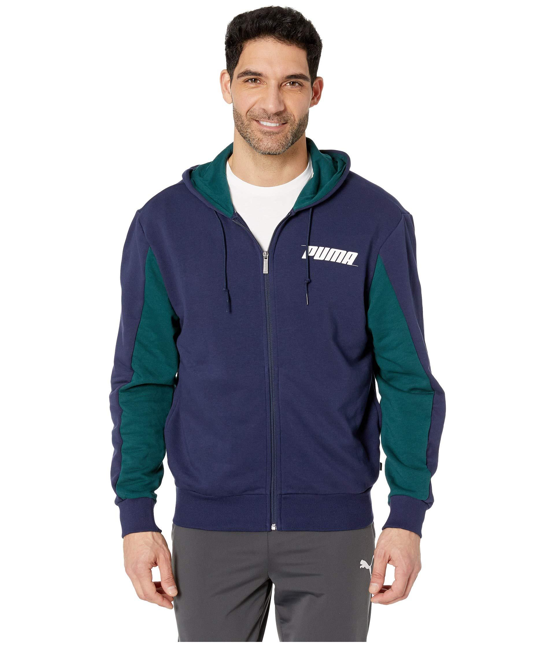 68f08bcf9753 Lyst - PUMA Rebel Hooded Jacket Tr in Blue for Men - Save 23%