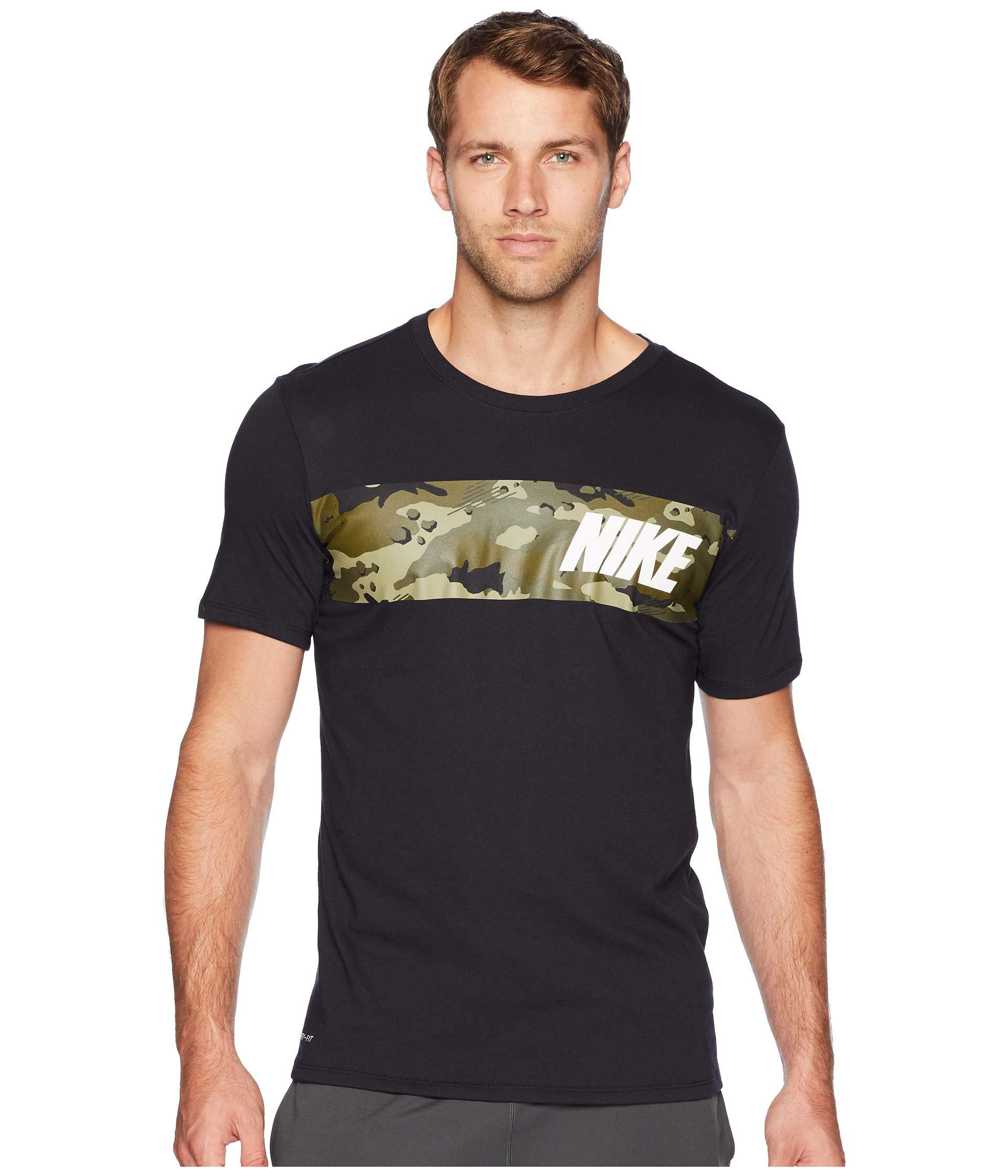 5dff1a49b04e Lyst - Nike Dry Tee Dri-fit Cotton Block Camo in Black for Men