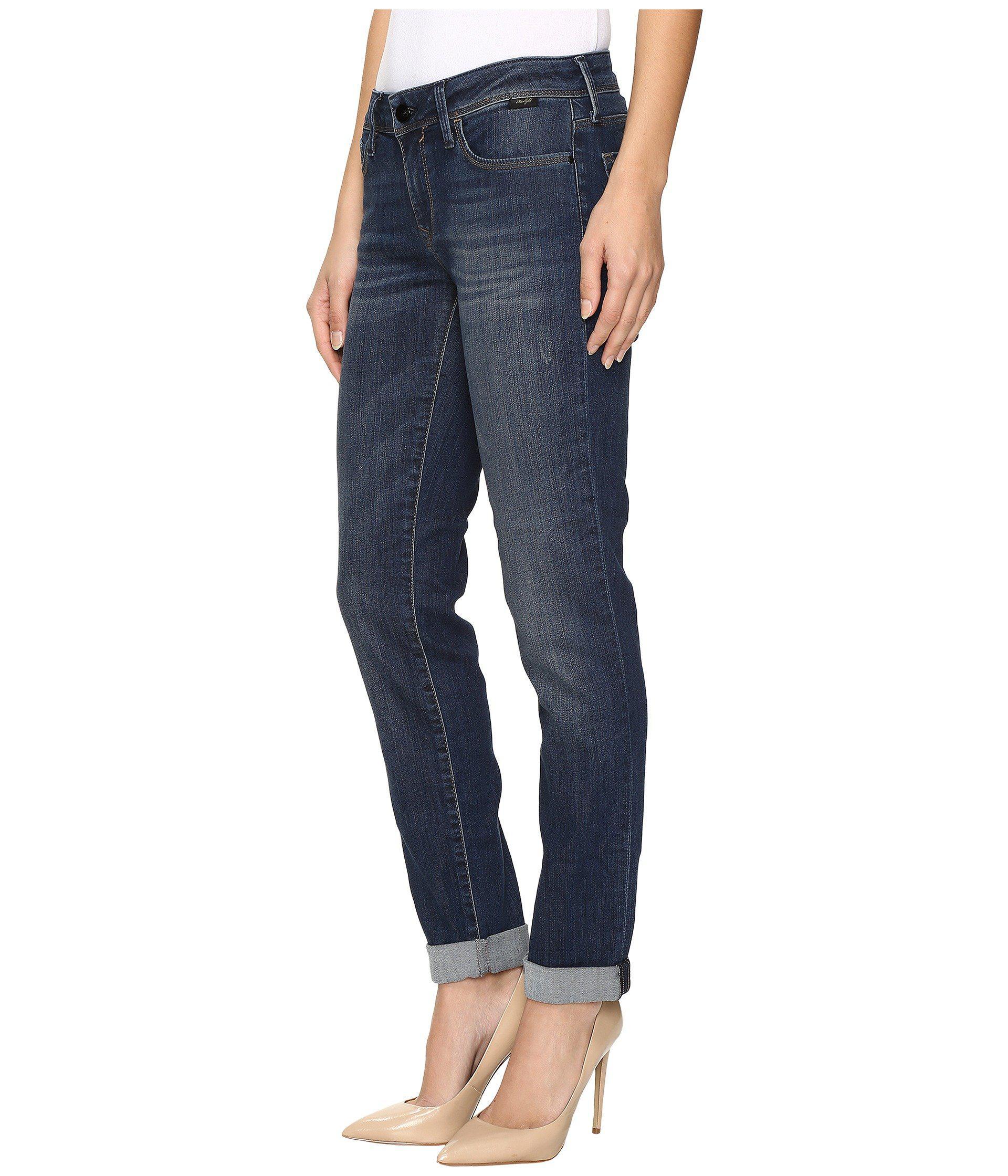 86e3e965db Lyst - Mavi Jeans Emma Slim Boyfriend In Deep Indigo Gold in Blue - Save 38%