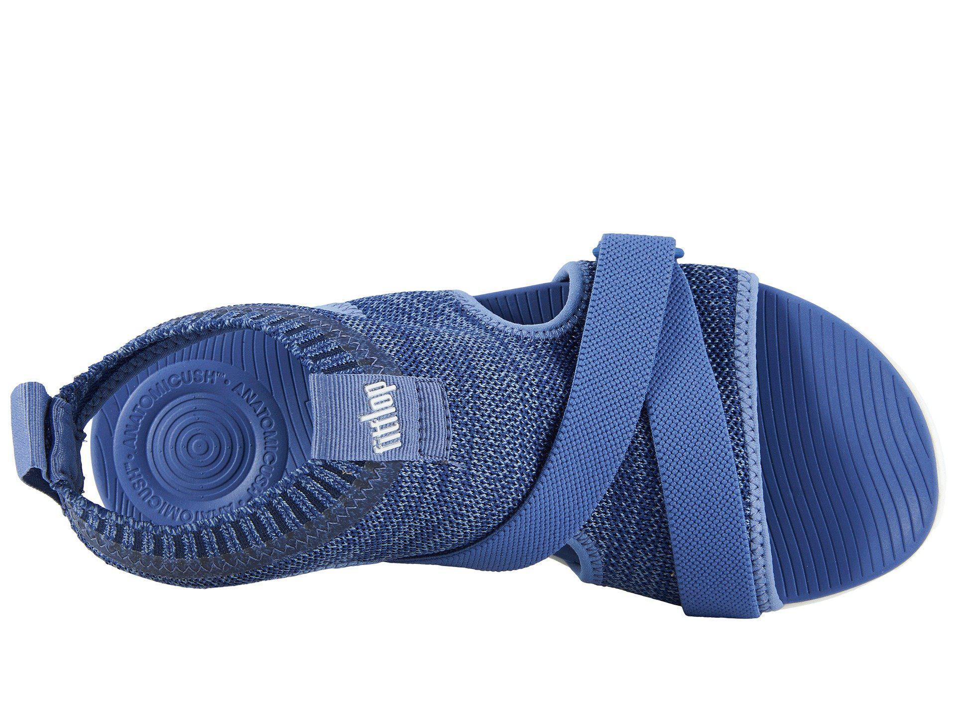 87167b8631fb38 Fitflop - Blue Uberknit Back Strap Sandals - Lyst. View fullscreen