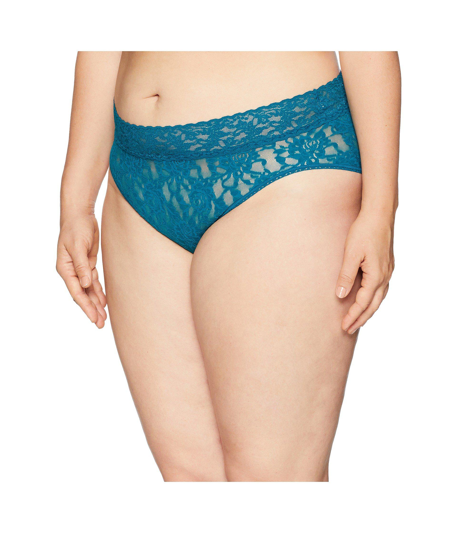 c018b625c18 Lyst - Hanky Panky Plus Size Signature Lace French Brief in Blue - Save 29%