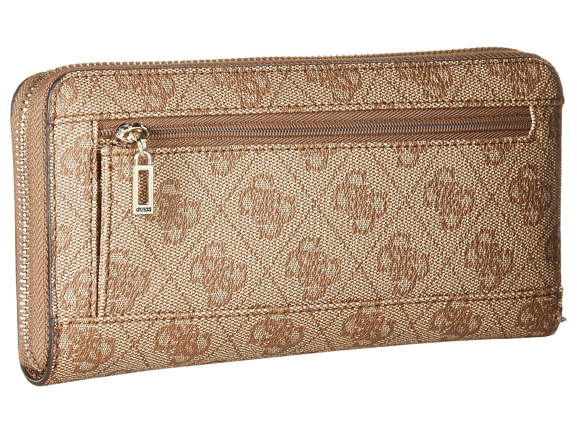 Guess Florence SLG Large Zip Around Brown Fb8a92q