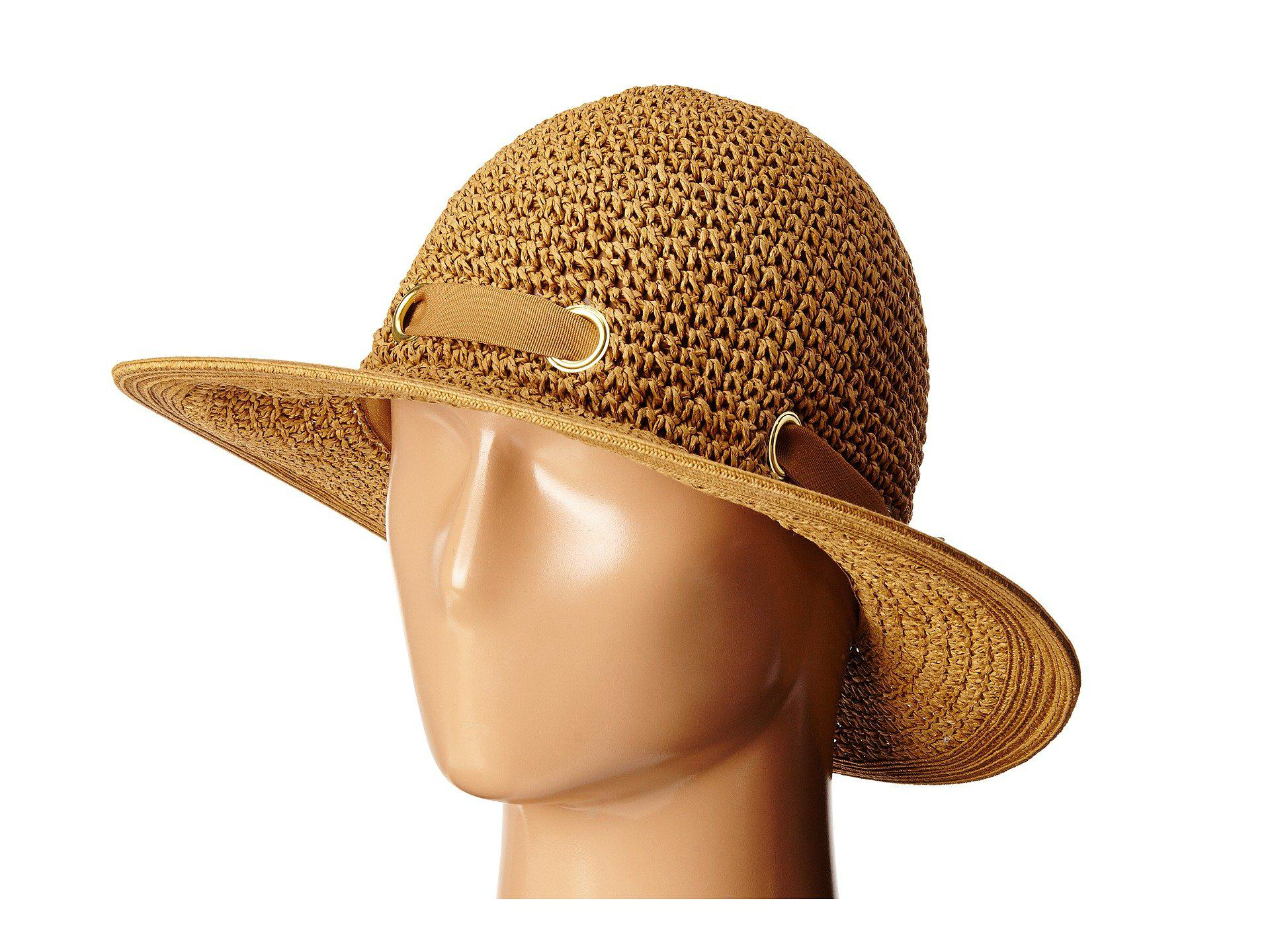 Lyst - San Diego Hat Company Pbm1029 Crochet Floppy Hat With ... 39d8b5f505c5