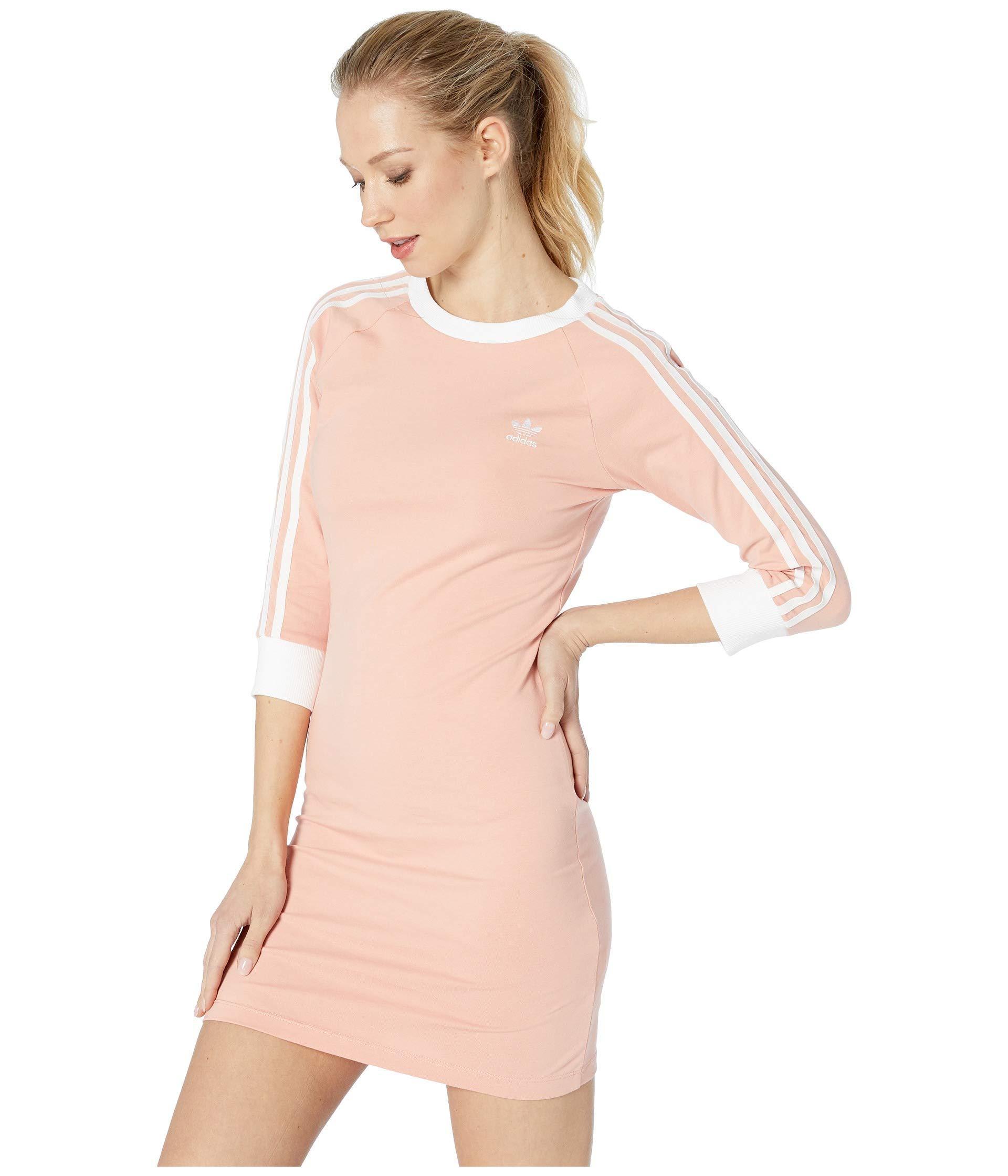 f5f0fd1b726 Lyst - adidas Originals 3-stripes Dress in Pink