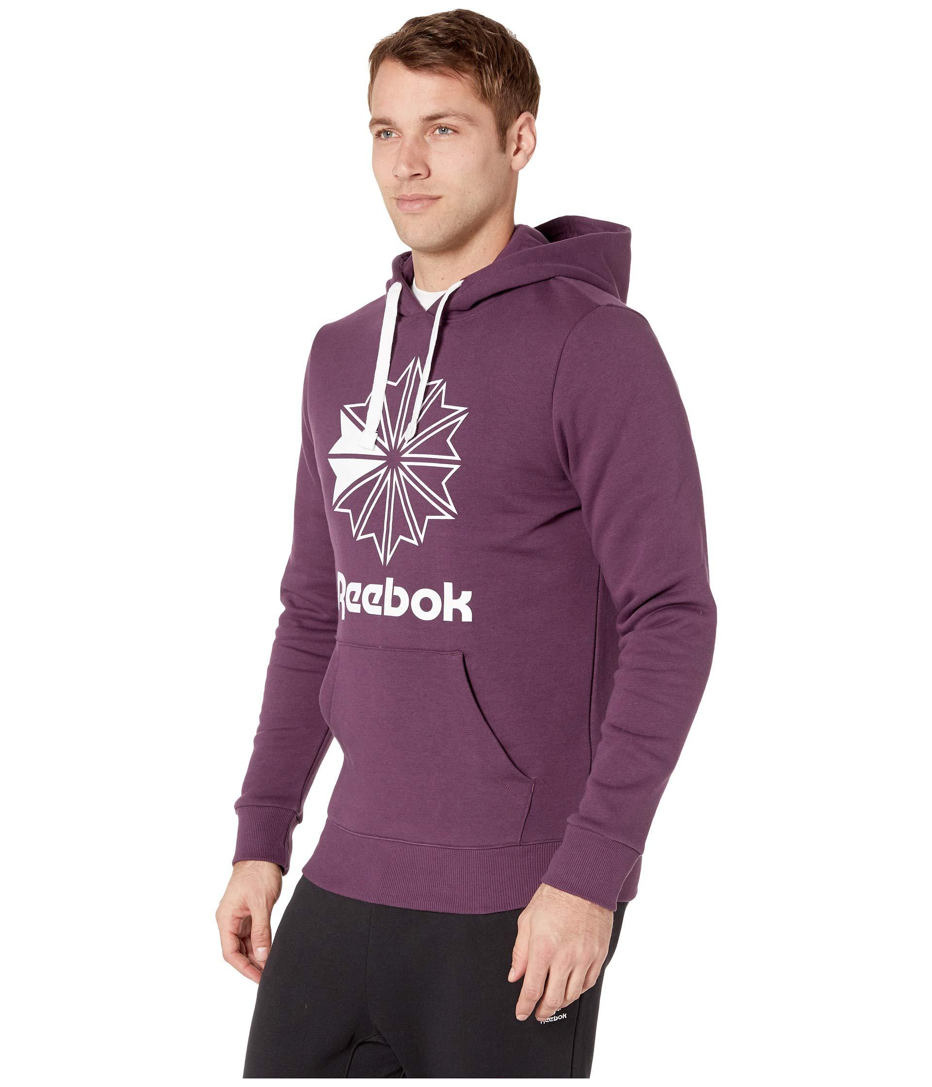 e916333c78e0 Lyst - Reebok Classics Big Logo Hoodie in Purple for Men