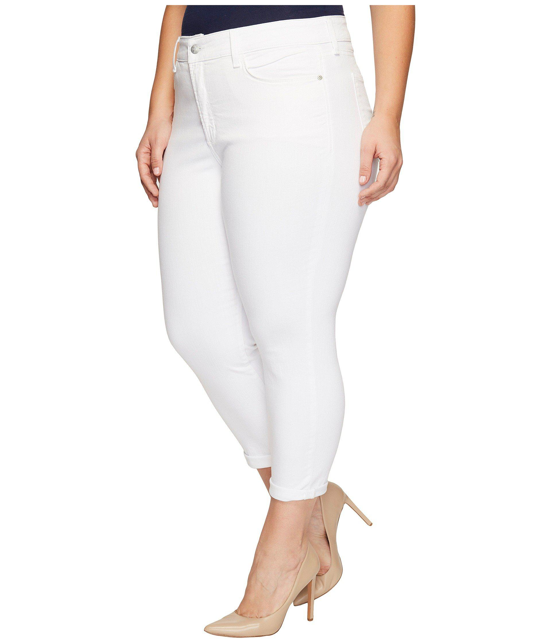 ac3e5698dd4 Lyst - NYDJ Plus Size Alina Convertible Ankle In Optic White in White