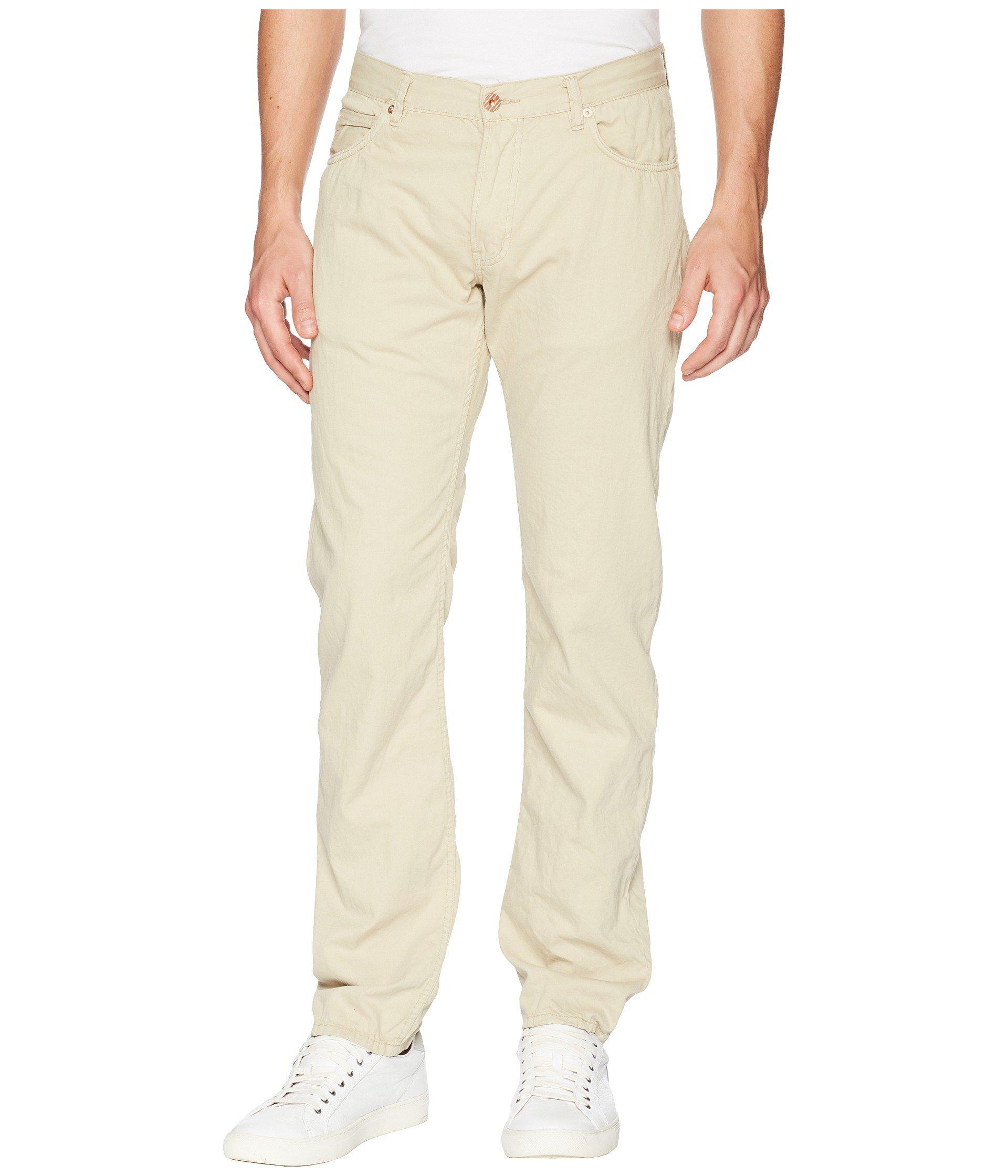 48310202 Lyst - Billy Reid Slim Jeans In Khaki in Natural for Men