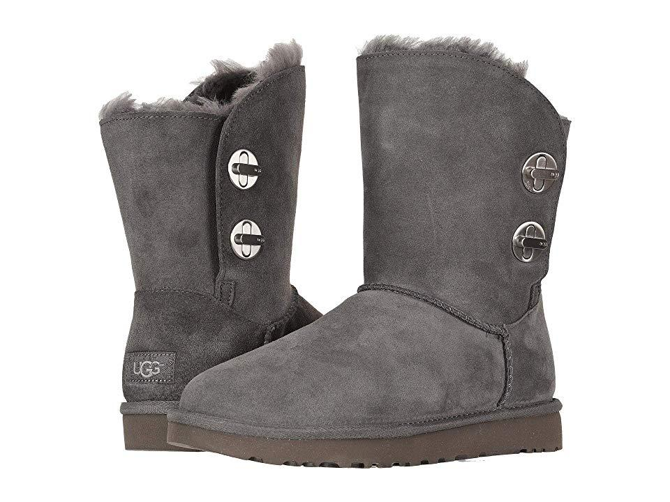 6ab96d6056 UGG Classic Short Turnlock Boot (charcoal) Pull-on Boots in Gray - Lyst