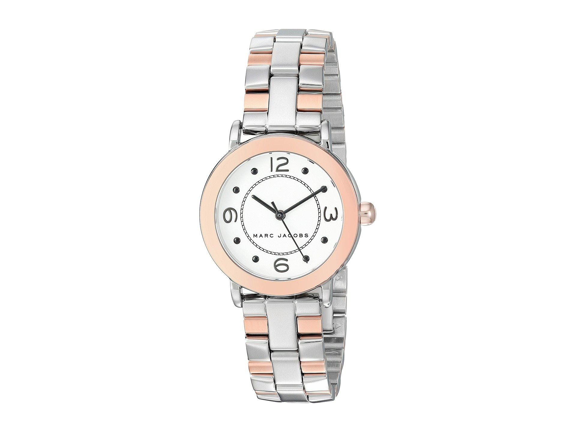 Marc Jacobs Womens Riley White Leather Watch Mj1517 Details Mj1438 By