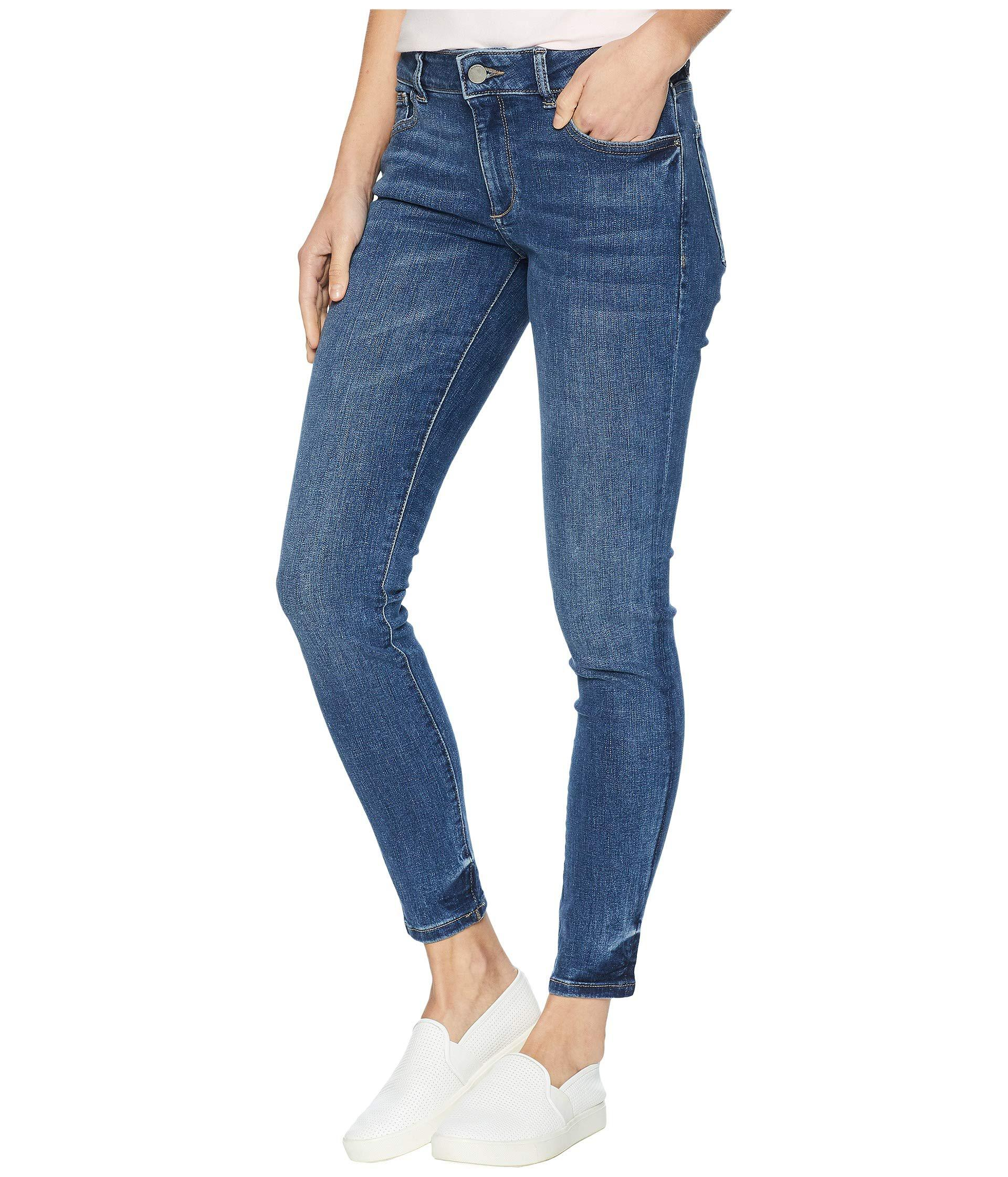 Lyst Dl1961 Emma Low Rise Skinny In Reed In Blue Save