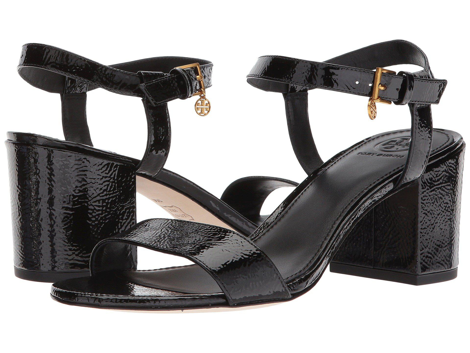03c19762210e Lyst - Tory Burch Laurel 65m Ankle Strap Sandal in Black