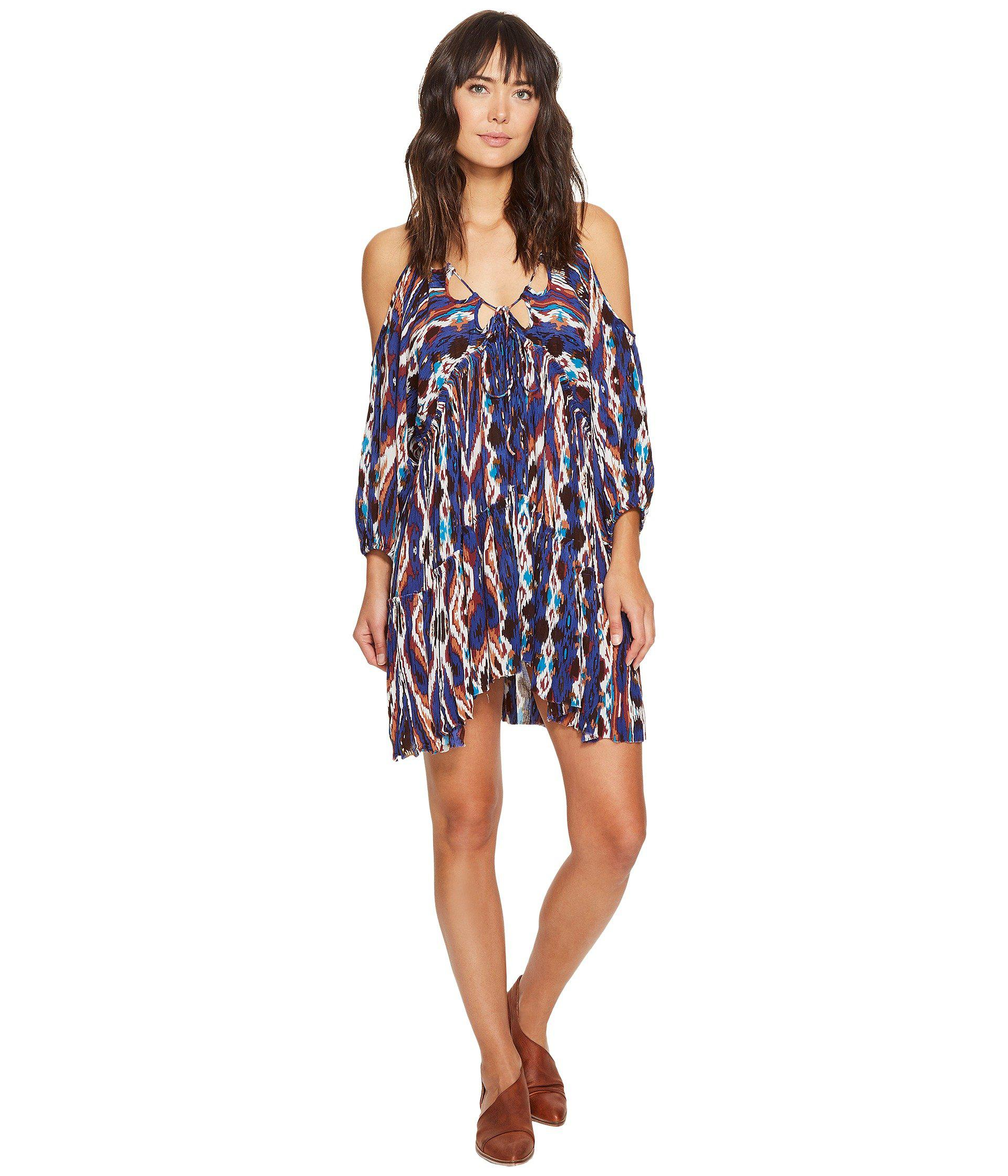 51090ae9a689 Free People Monarch Mini Dress in Blue - Lyst