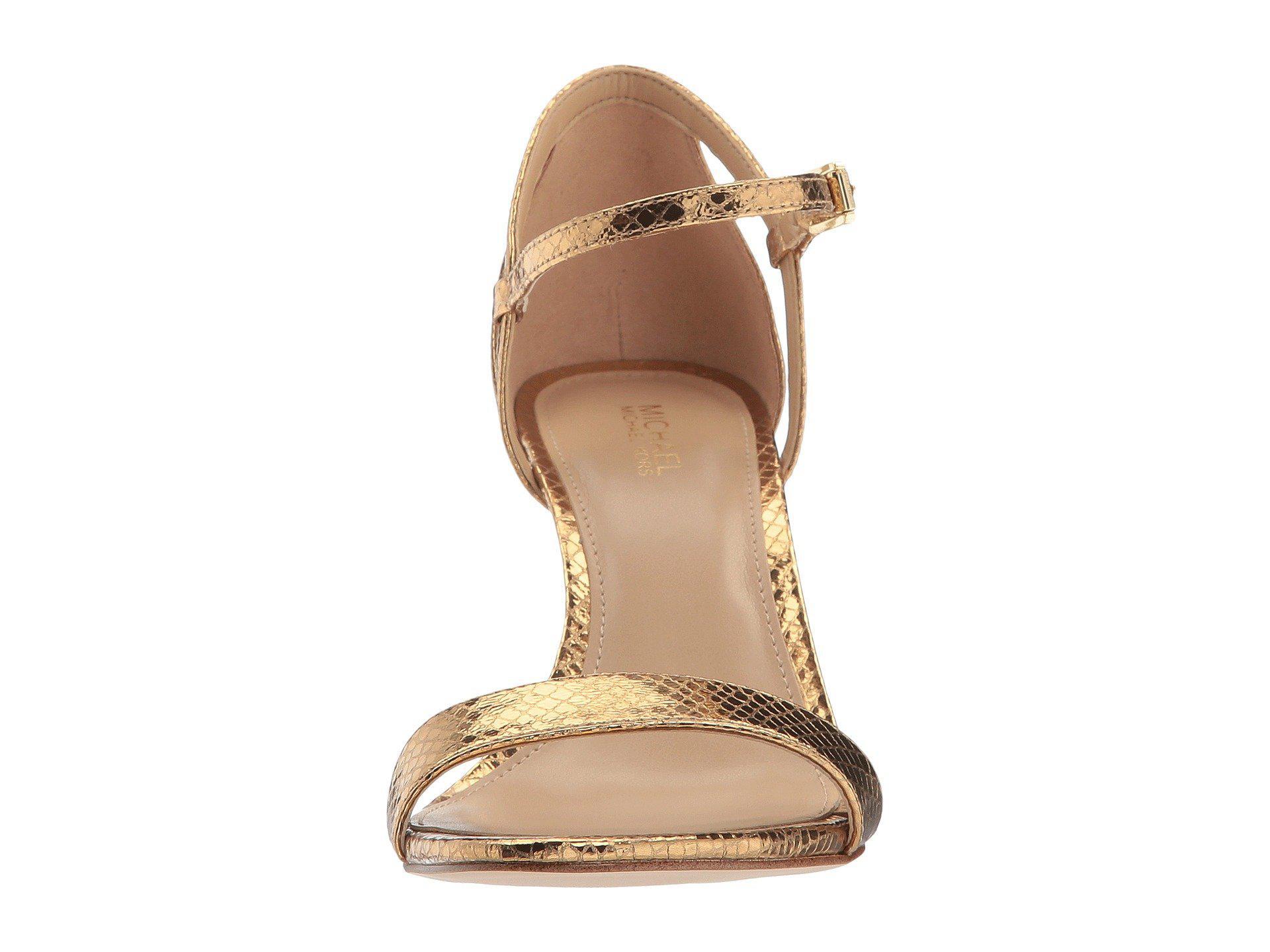 eb13654498e7 Lyst - MICHAEL Michael Kors Simone Mid Sandal in Metallic