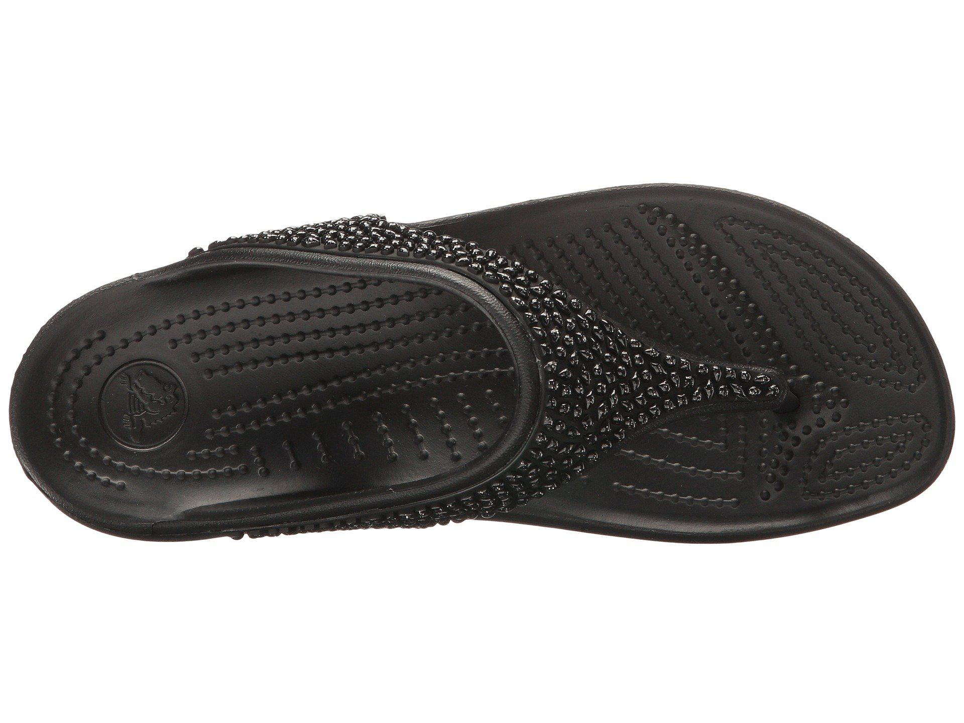 c45eb04bc97b Crocs™ - Black Sloane Embellished Flip - Lyst. View fullscreen