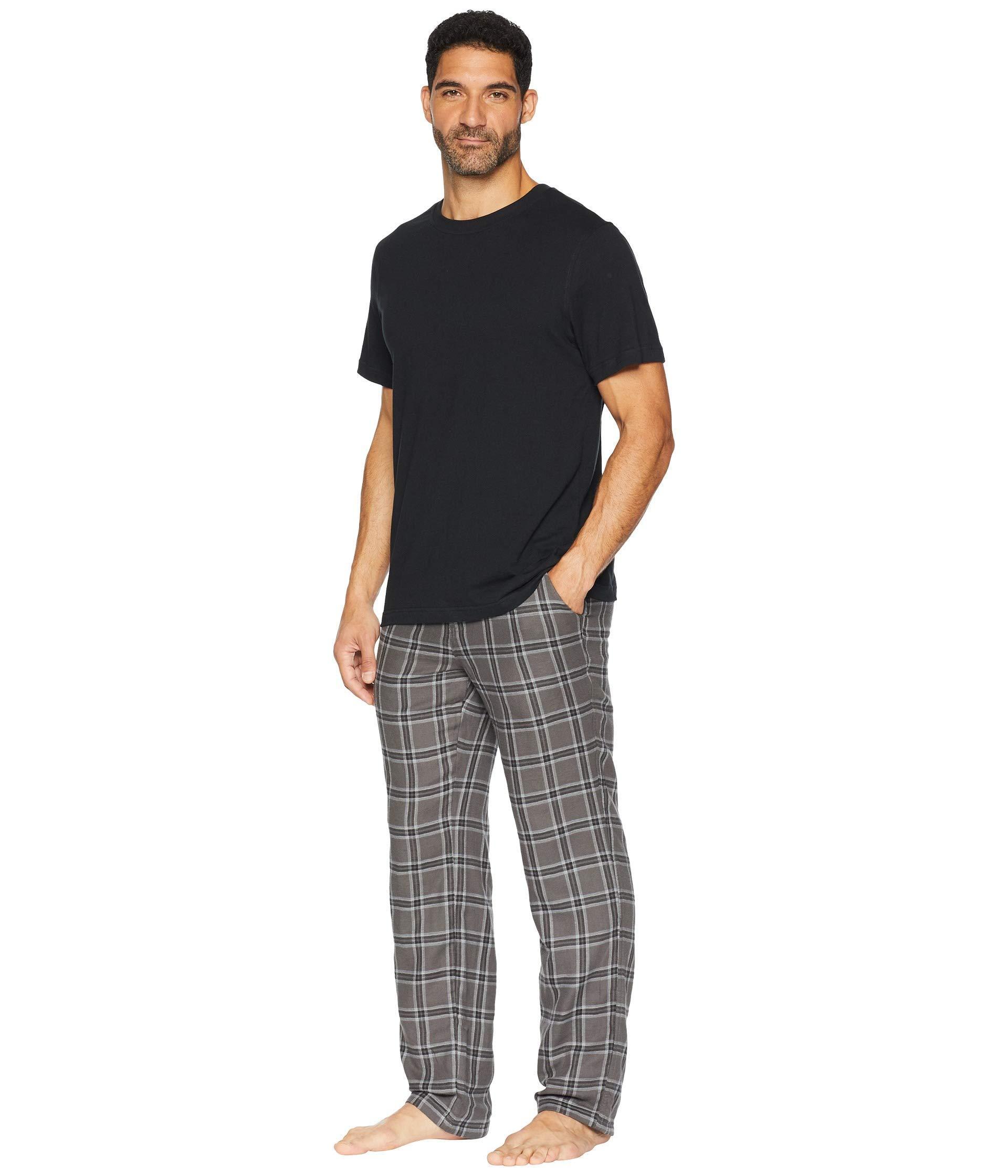 9b39d76379 Lyst - Ugg Grant Woven Sleepwear Set in Black for Men