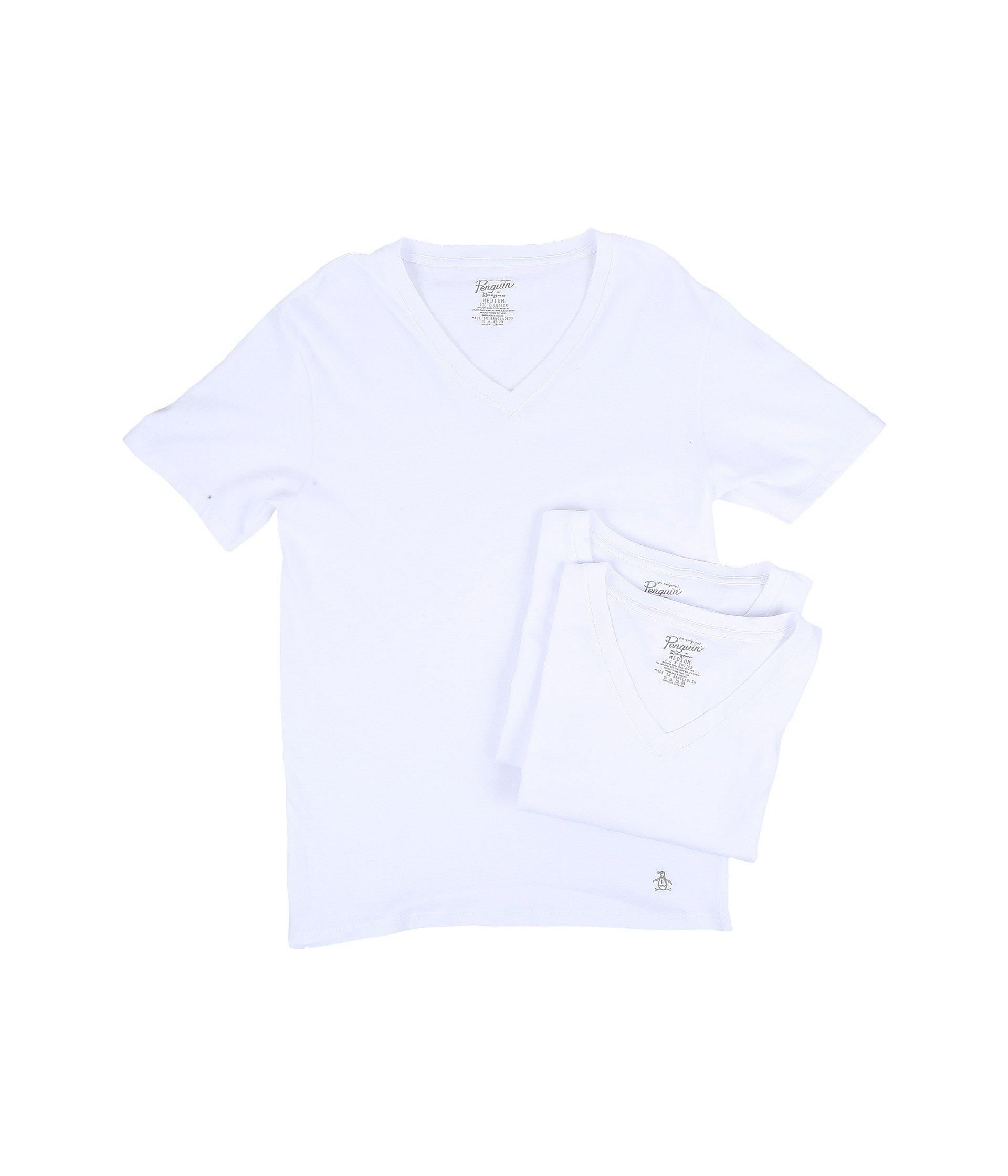 e37c30bb Original Penguin - White Slim Fit 3-pack V-neck T-shirt for. View fullscreen