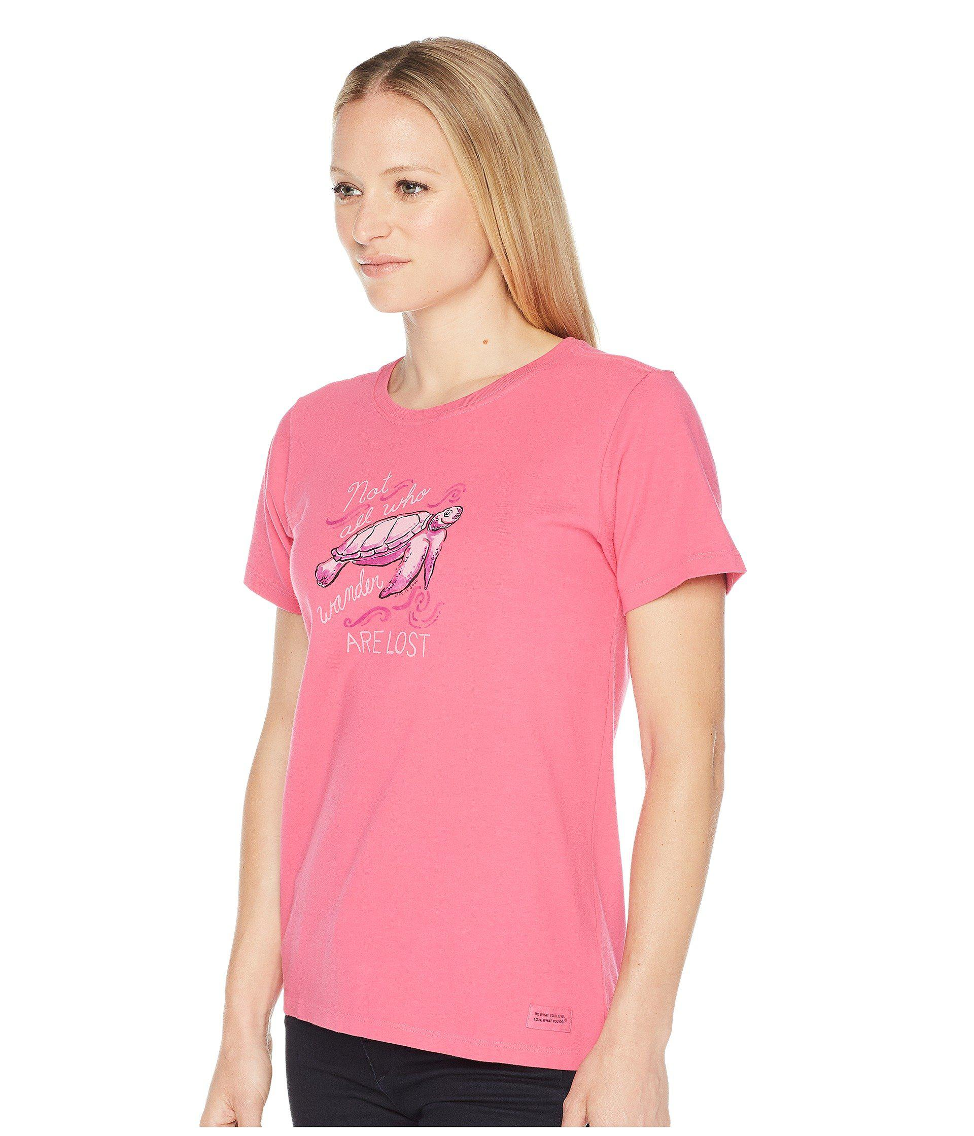 d0e172e0 Lyst - Life Is Good. Wander Turtle Crusher Tee in Pink - Save 36%