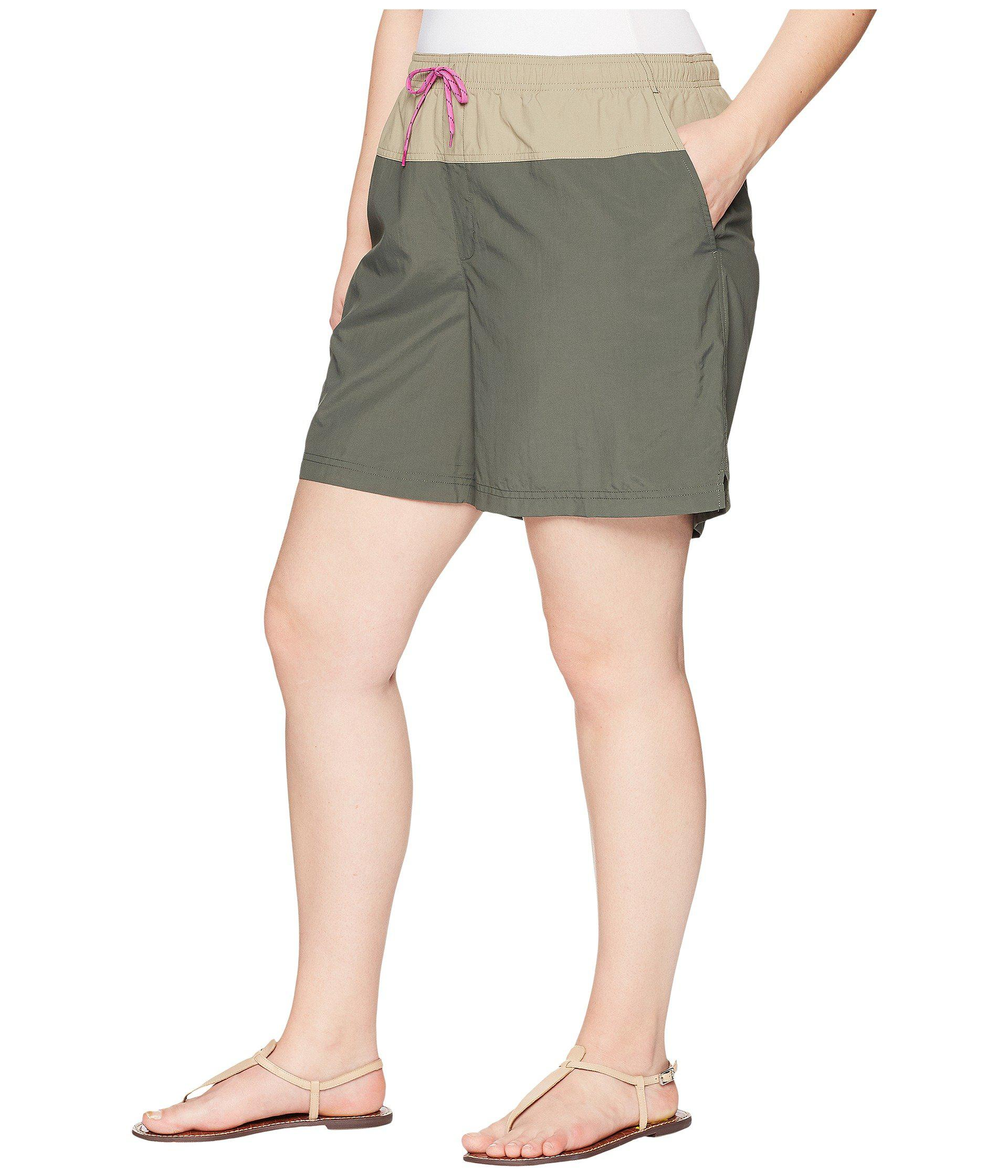 4961489871 Lyst - Columbia Plus Size Sandy Rivertm Color Blocked Shorts in Green -  Save 70%