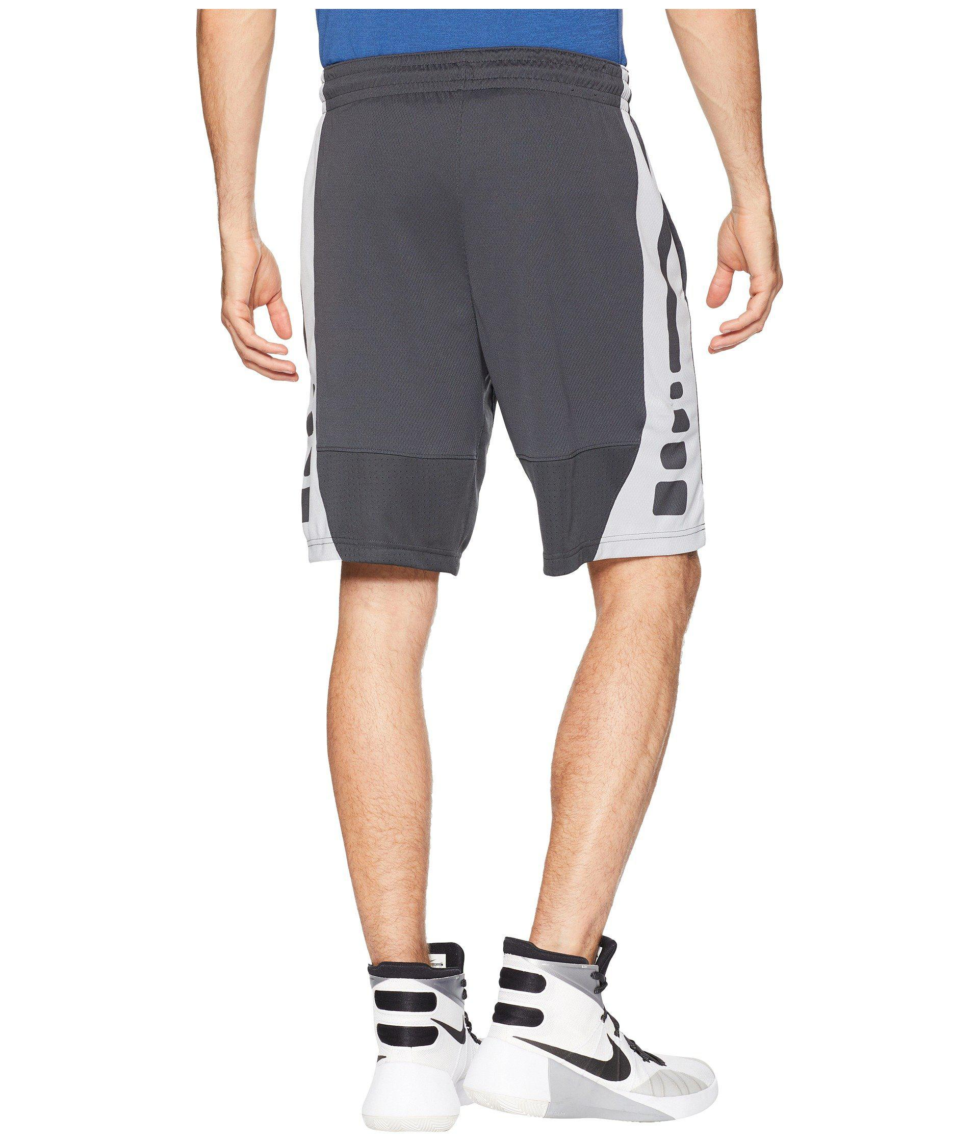 f10584e6fbd9 Nike - Gray Elite Stripe Basketball Short for Men - Lyst. View fullscreen