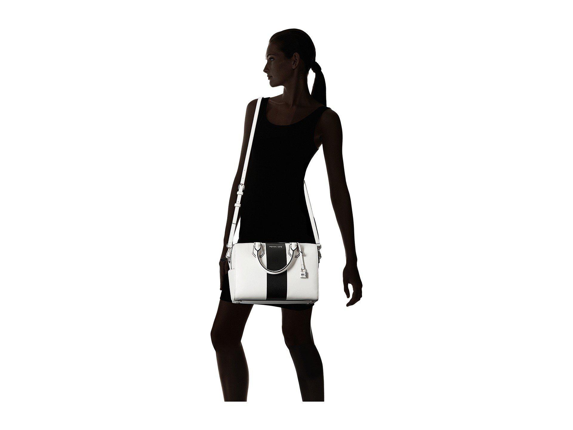 9727d796a1 Lyst - MICHAEL Michael Kors Center Stripe Mercer Medium Duffel in Black
