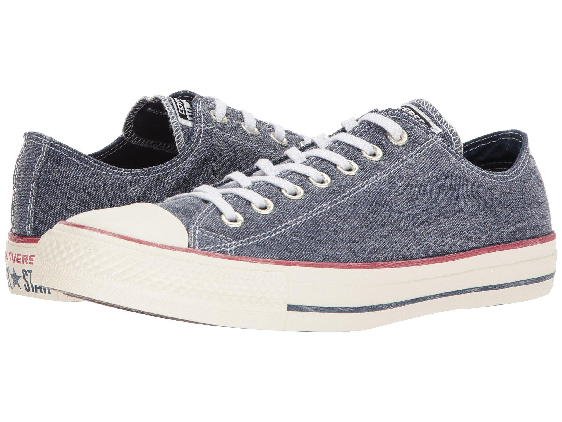 04ded26923e250 Lyst - Converse Chuck Taylor® All Star Stone Wash Canvas Ox in Blue