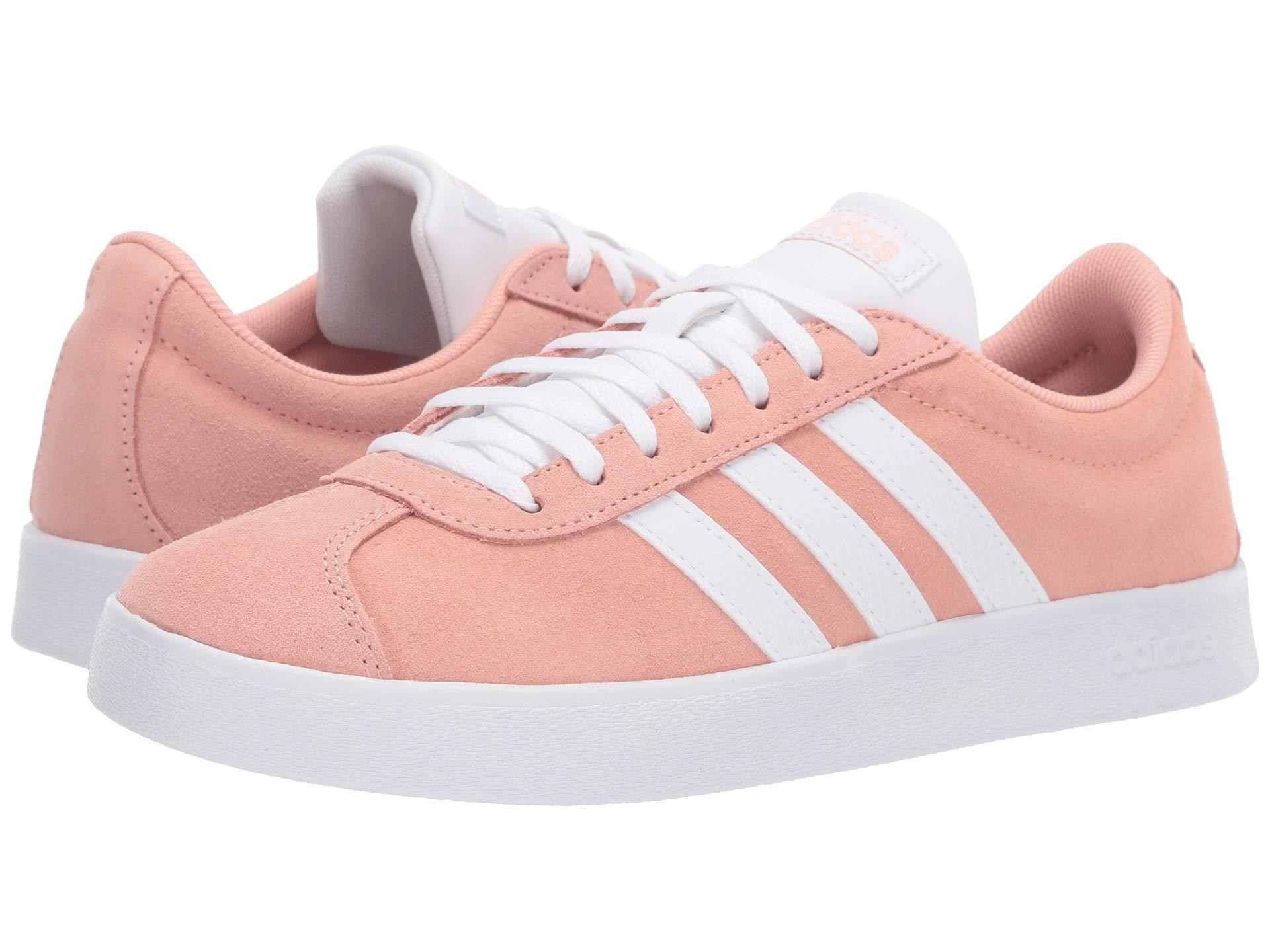 17b256e0c9db81 Lyst - adidas Vl Court Shoes in Pink