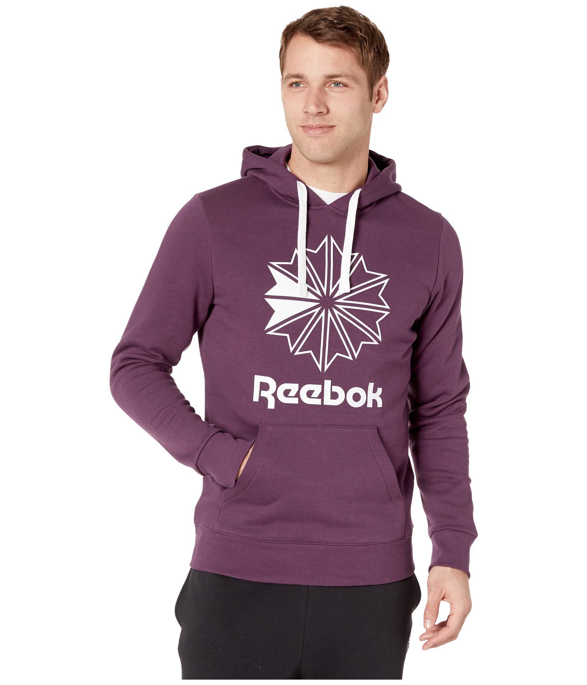 b4b8124dfbfb Reebok - Purple Classics Big Logo Hoodie for Men - Lyst. View fullscreen