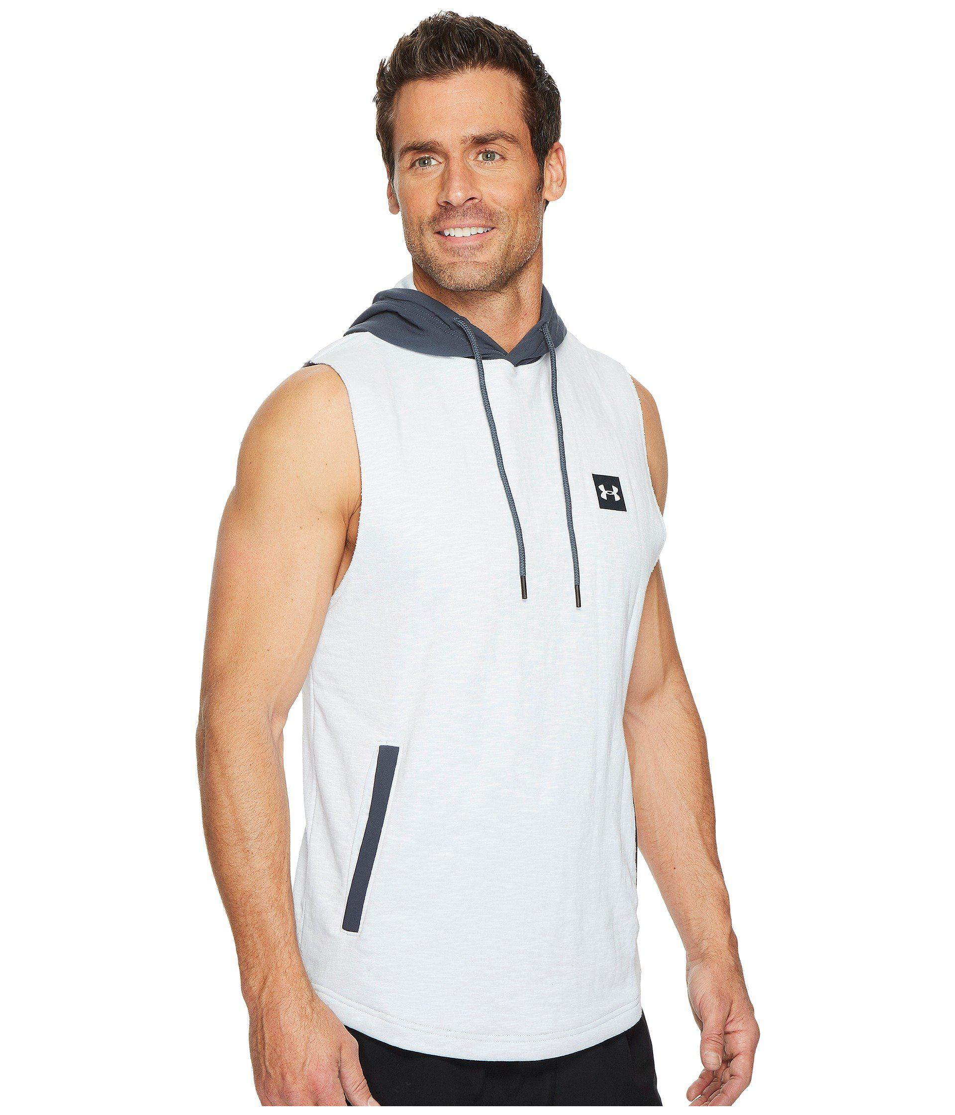 1999a03d7 Under Armour Sportstyle Sleeveless Hoodie in White for Men - Lyst