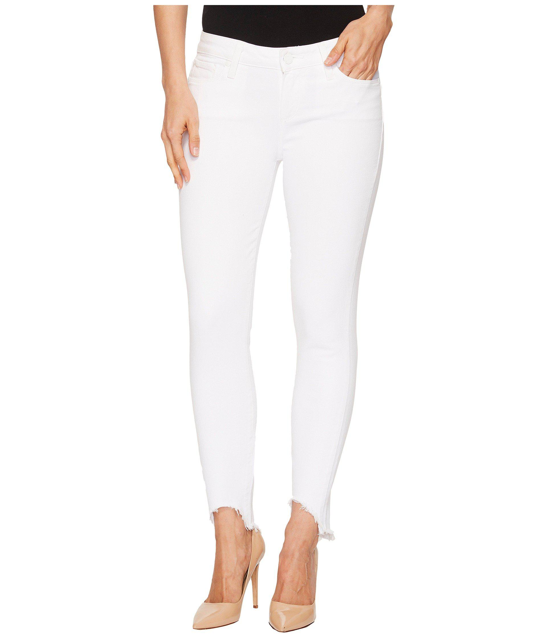 9717d5d5d97 PAIGE Verdugo Crop W/ Arched Hem In Crisp White in White - Lyst