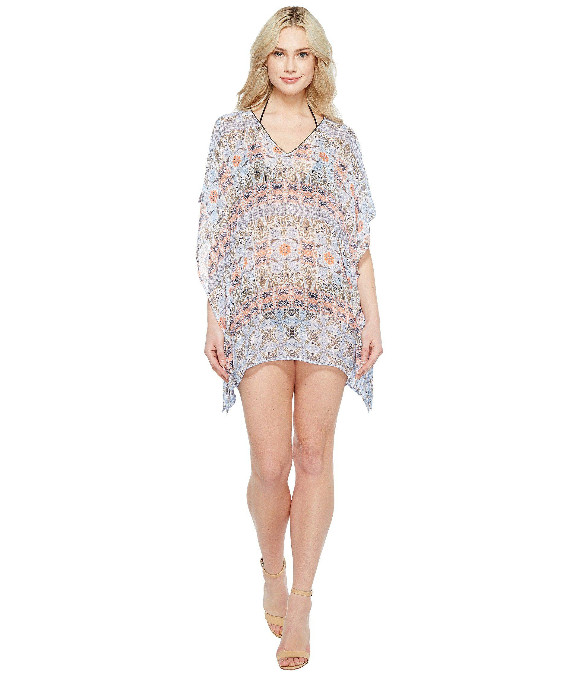 3b1be4318900 Lyst - Tommy Bahama Tile Terrace V-neck Tunic Cover-up in White