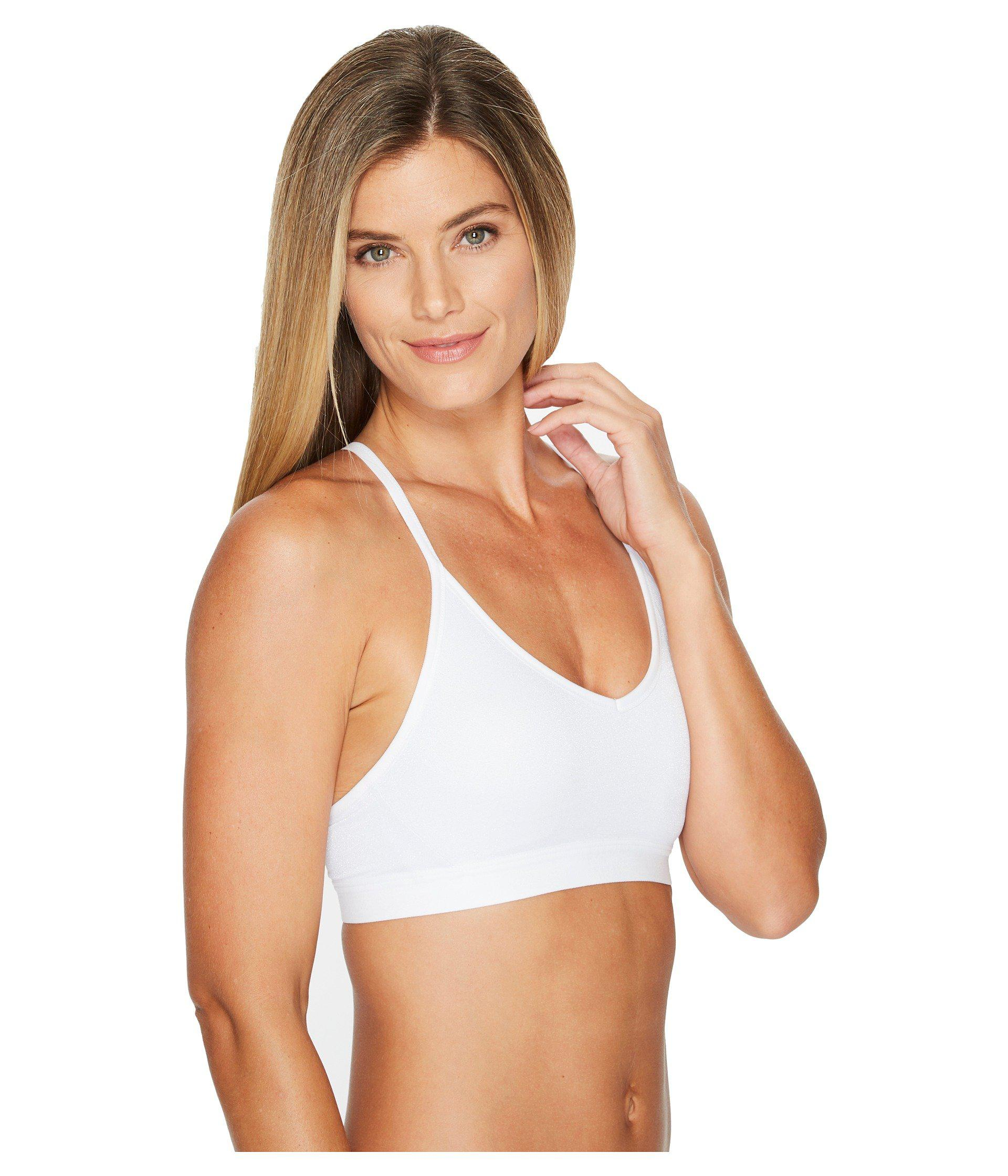 4ecce5f72a Lyst - Nike Indy Sparkle Light Support Sports Bra in White