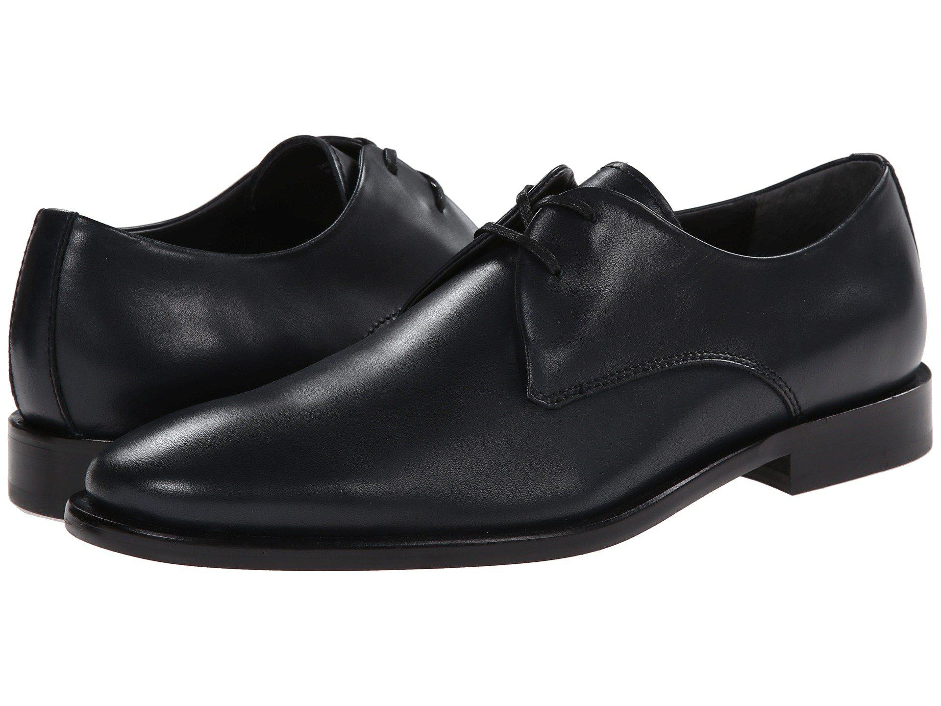 Calvin Klein Mens Rylandt Black Leather - Oxfords