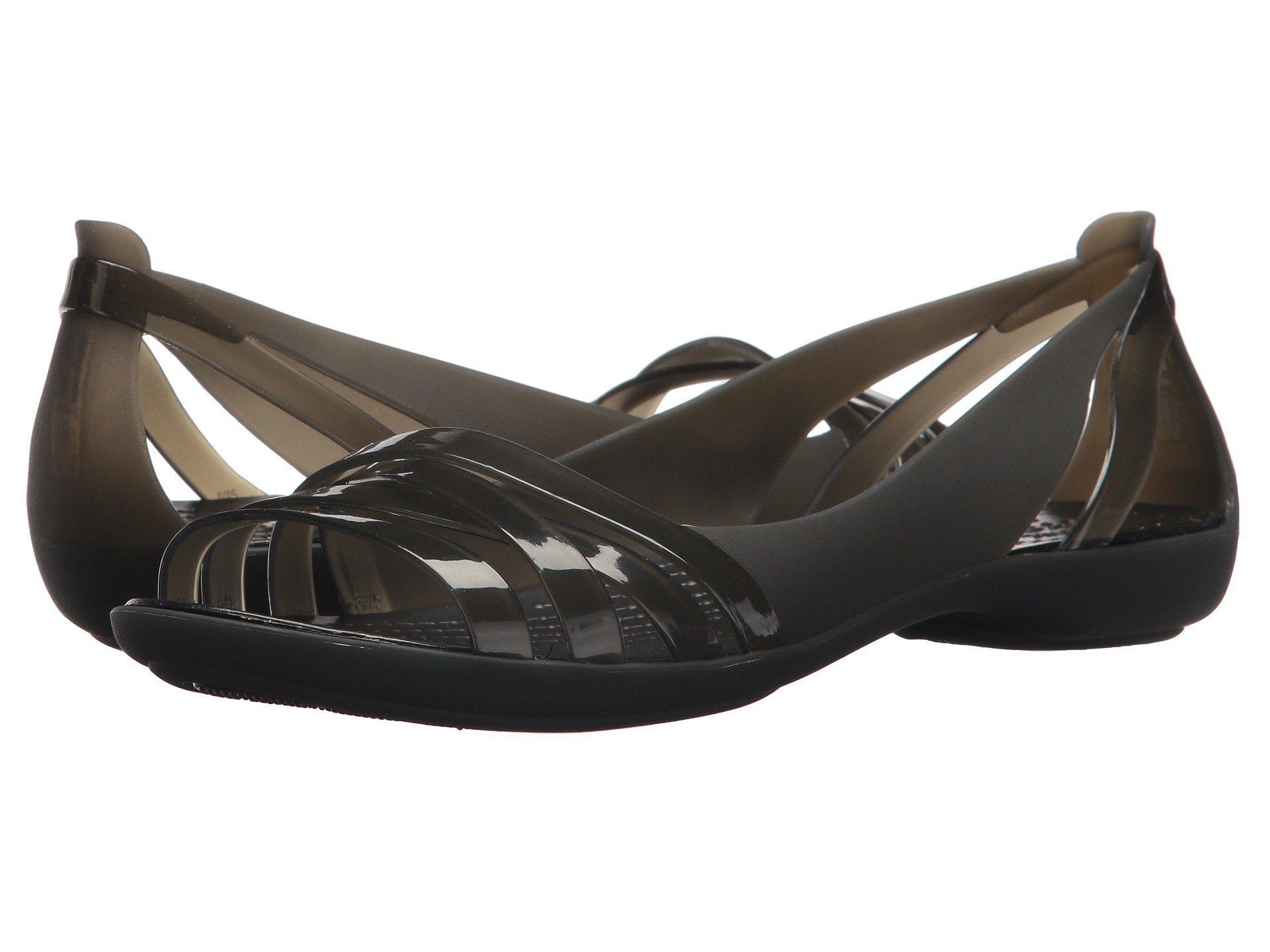ea74729da07a Lyst - Crocs™ Isabella Huarache 2 Flat in Black