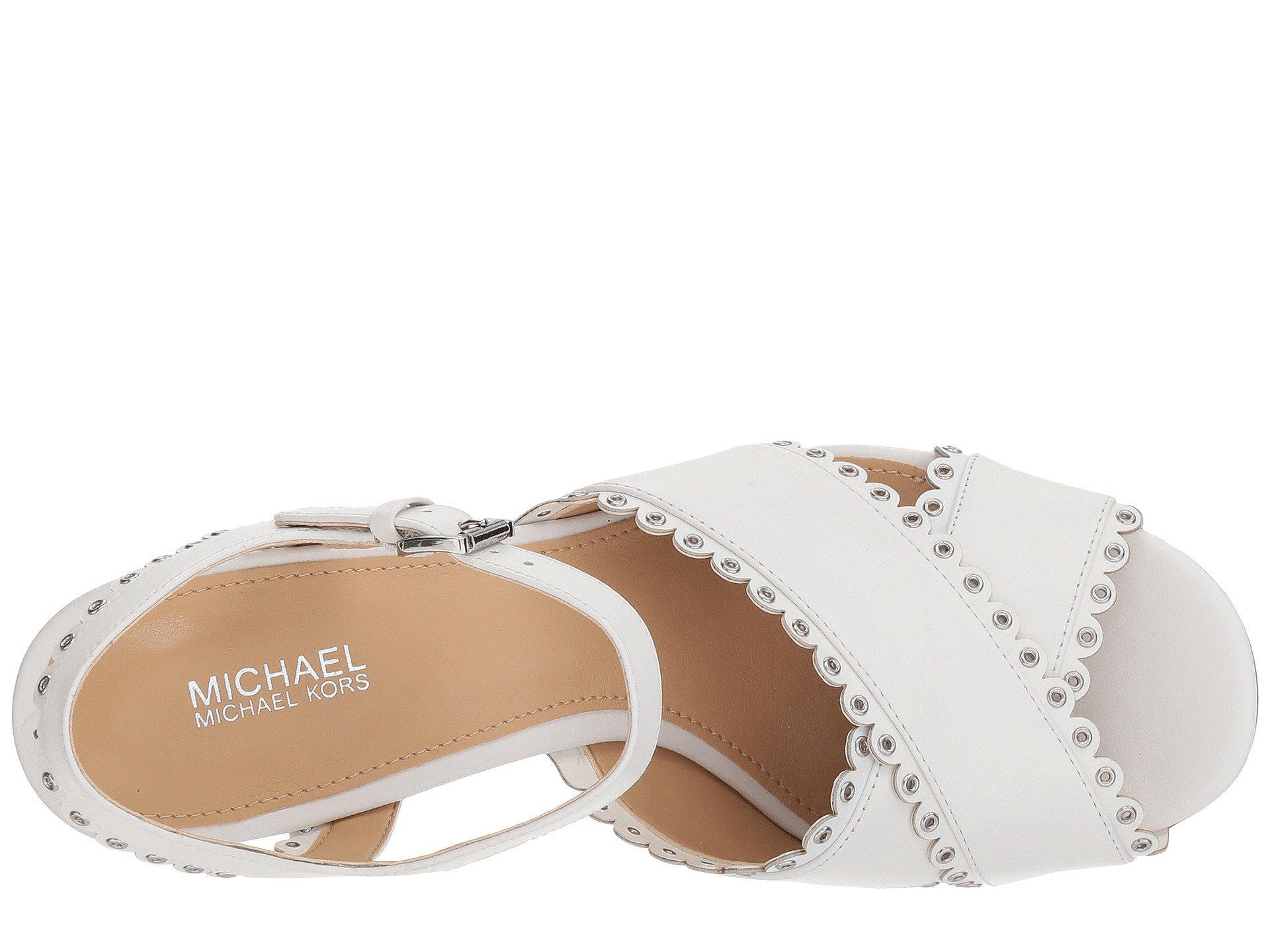 7227090c204 MICHAEL Michael Kors - White Jessie Platform - Lyst. View fullscreen