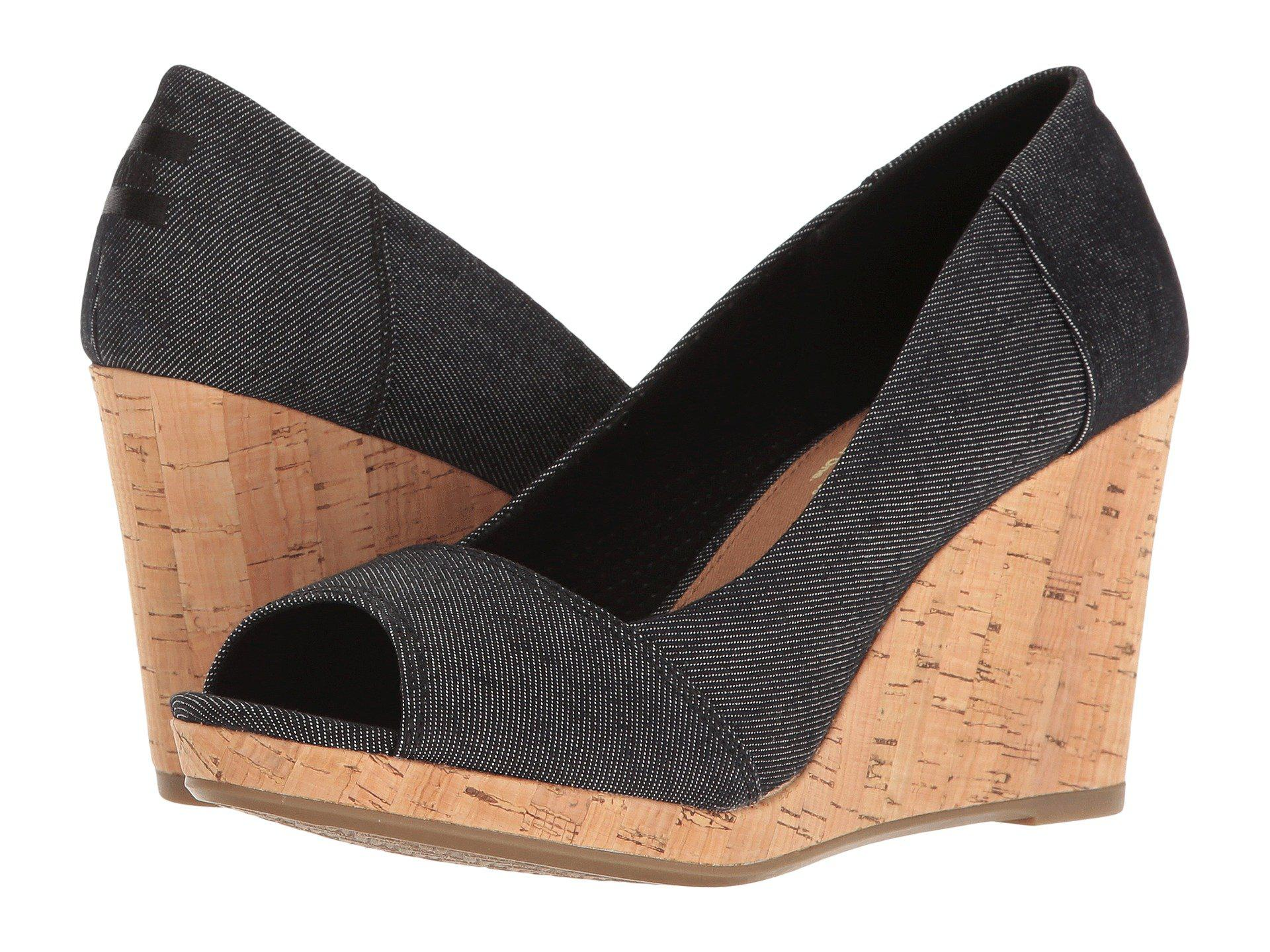 27e4d07adc6 Lyst - TOMS Stella Wedge in Black - Save 38%