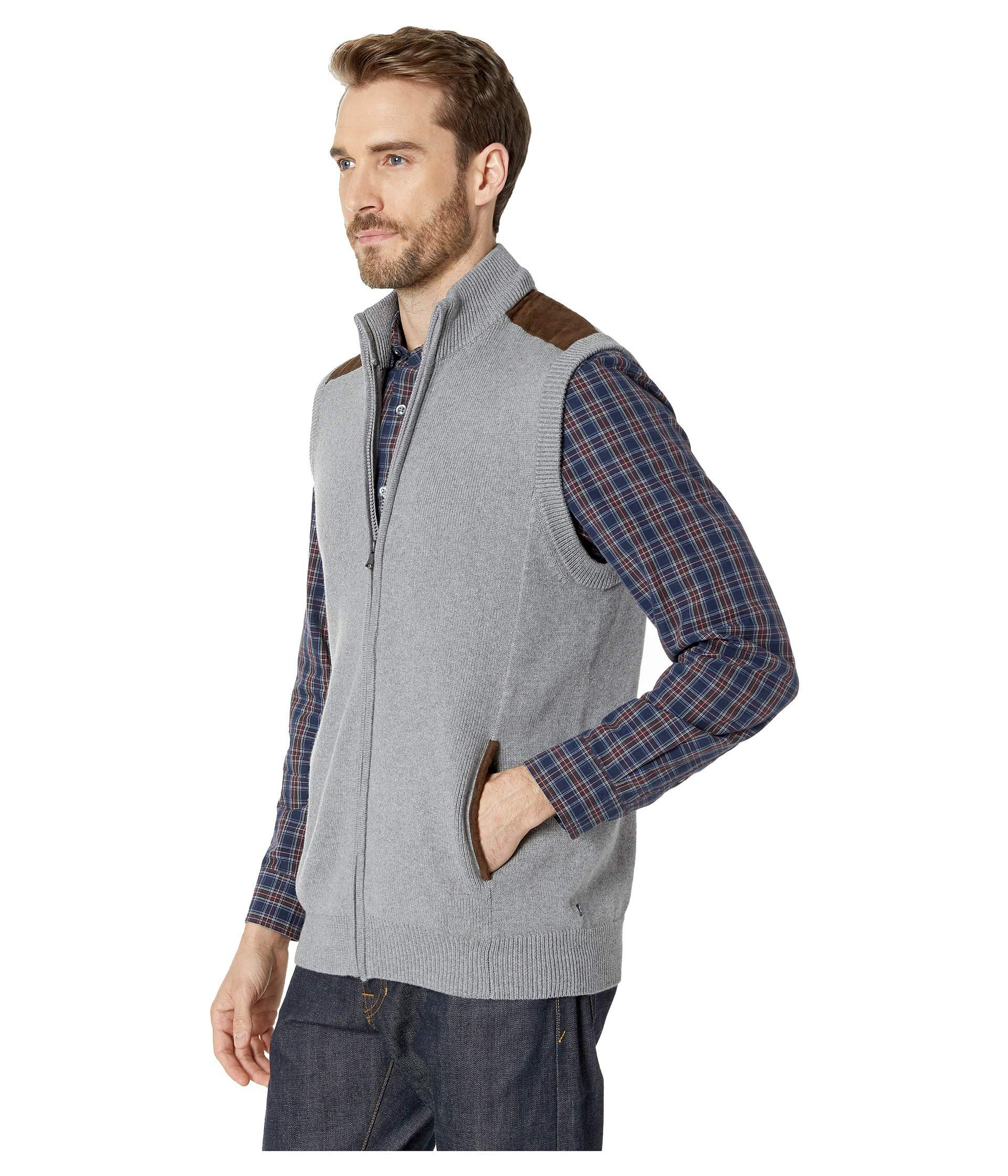 99bd3b874e Lyst - Chaps Cotton-zip Sweater Vest in Gray for Men - Save 46%