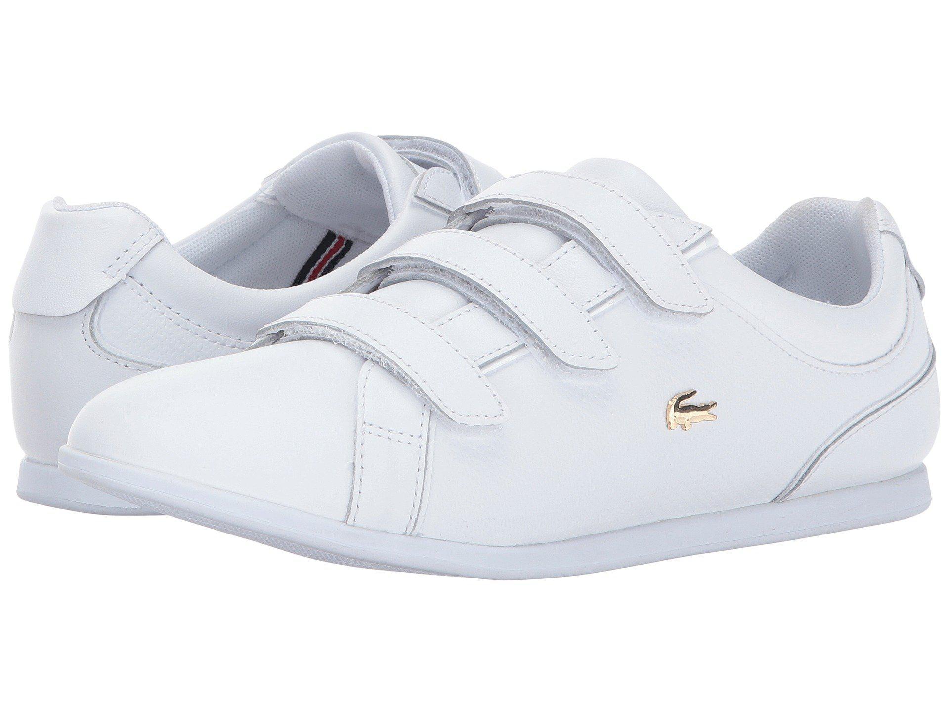 b516d6b96 Lyst - Lacoste Women s Rey Strap 1 Leather Sneaker in White