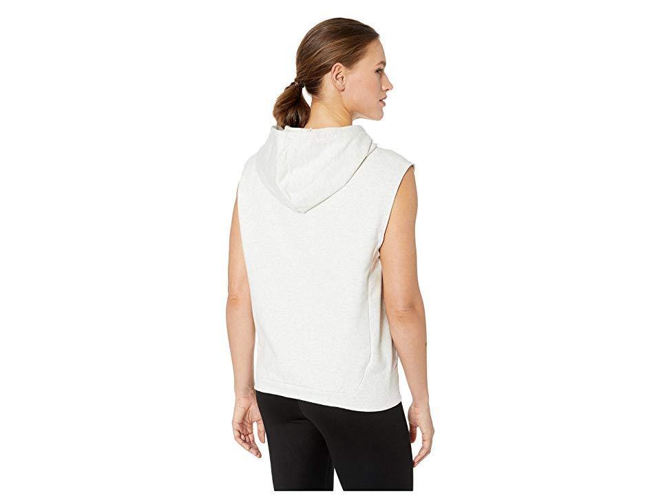 22bb3b0b11bc1 Reebok Combat Legacy Sleeveless Hoodie (white Melange) Clothing in ...