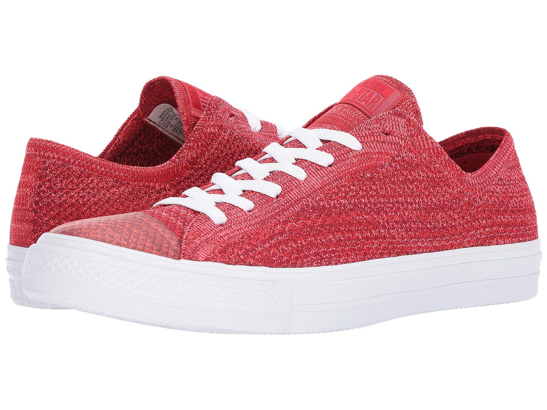 7e82b1f2e9a1 Lyst - Converse Chuck Taylor® All Star® X Nike Flyknit Ox in Red for Men