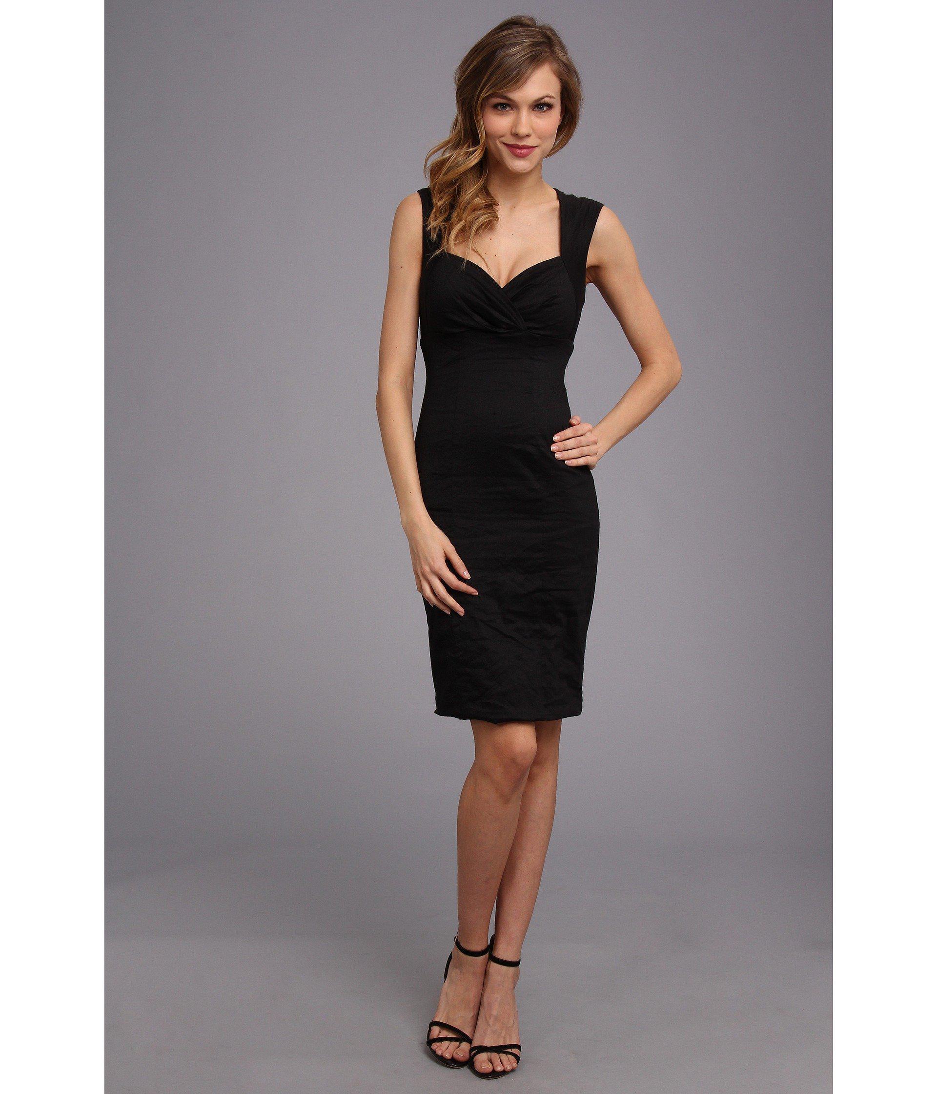 Lyst - Nicole Miller Sofia Cotton Metal Dress in Black - Save 44% e52a66413