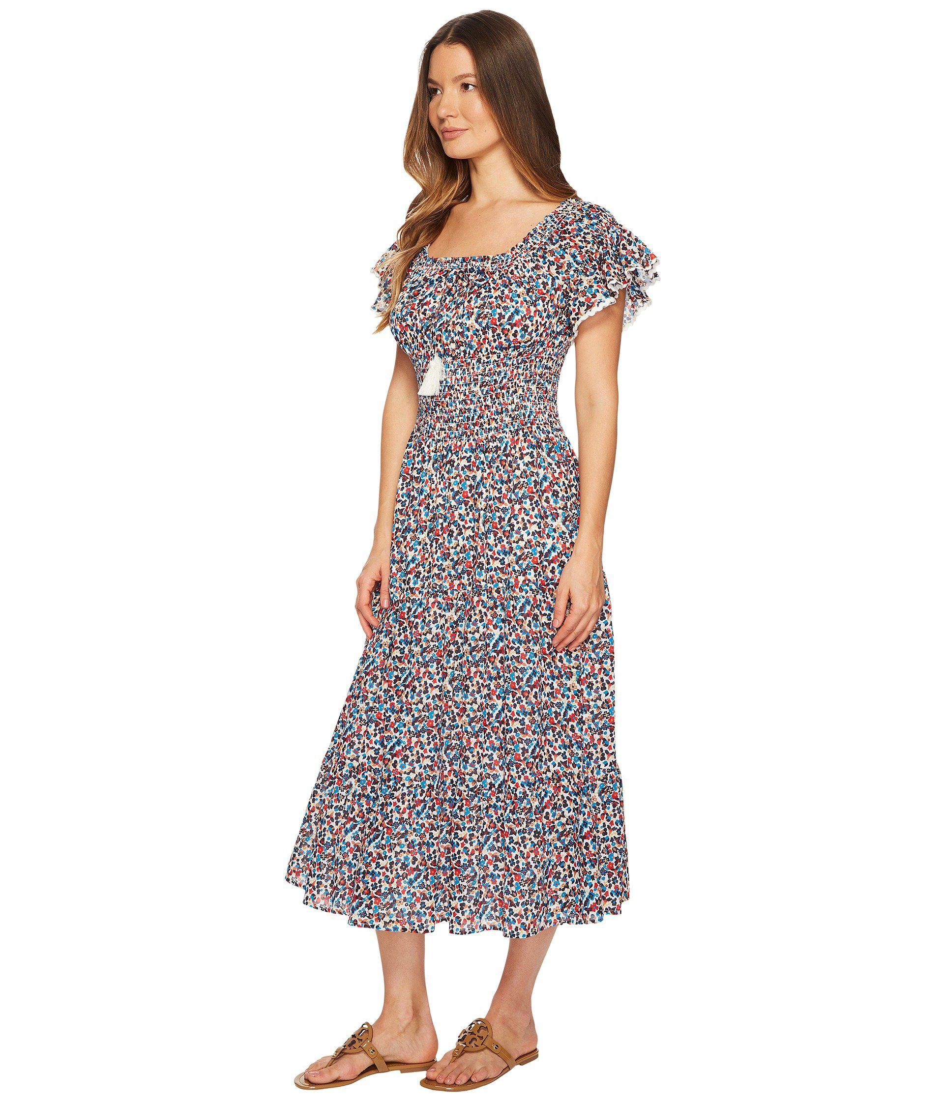 2d2a684d39 Lyst - Tory Burch Wildflower Smocked Dress Cover-up - Save 43%
