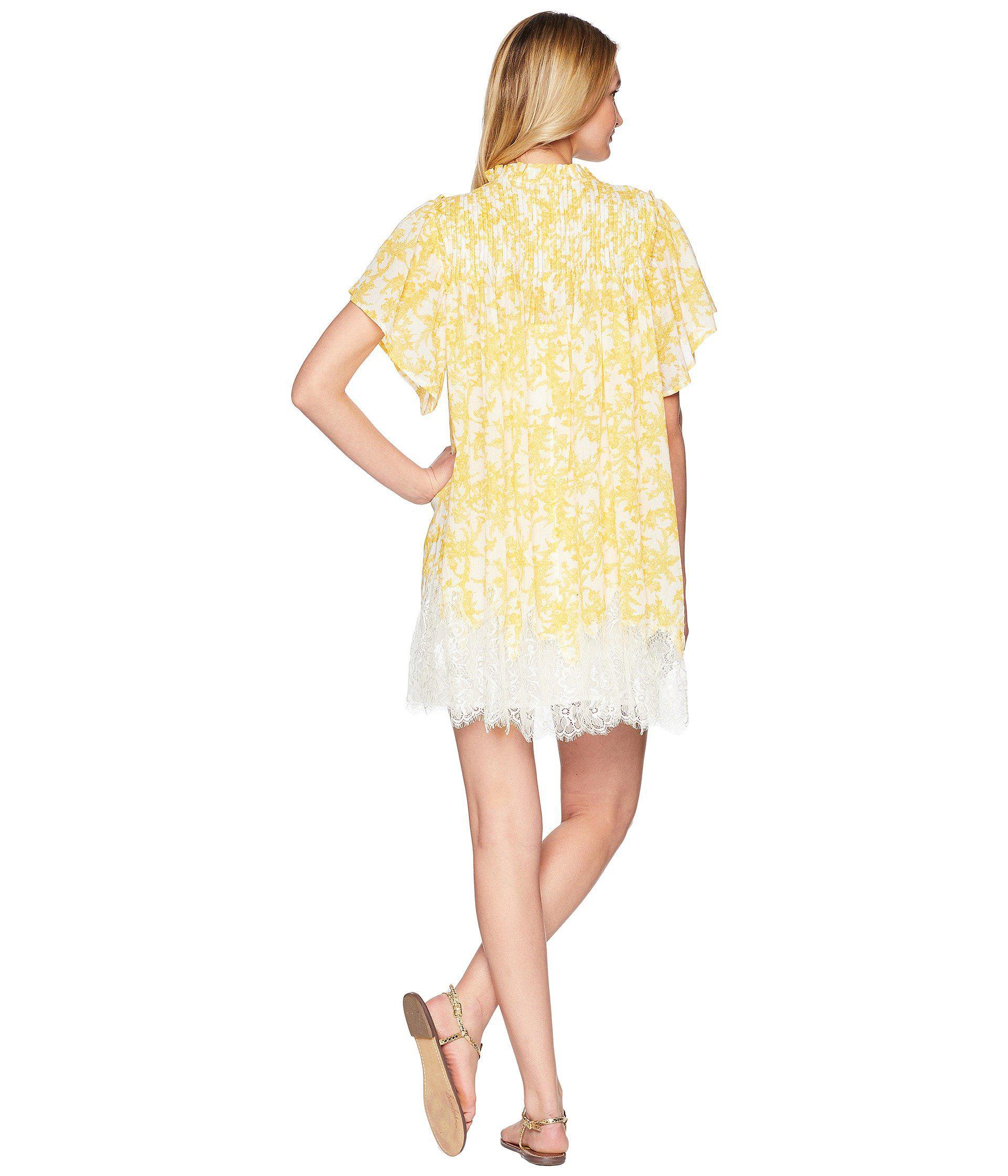 a26759e97172 Free People - White Marigold Mini Dress - Lyst. View fullscreen