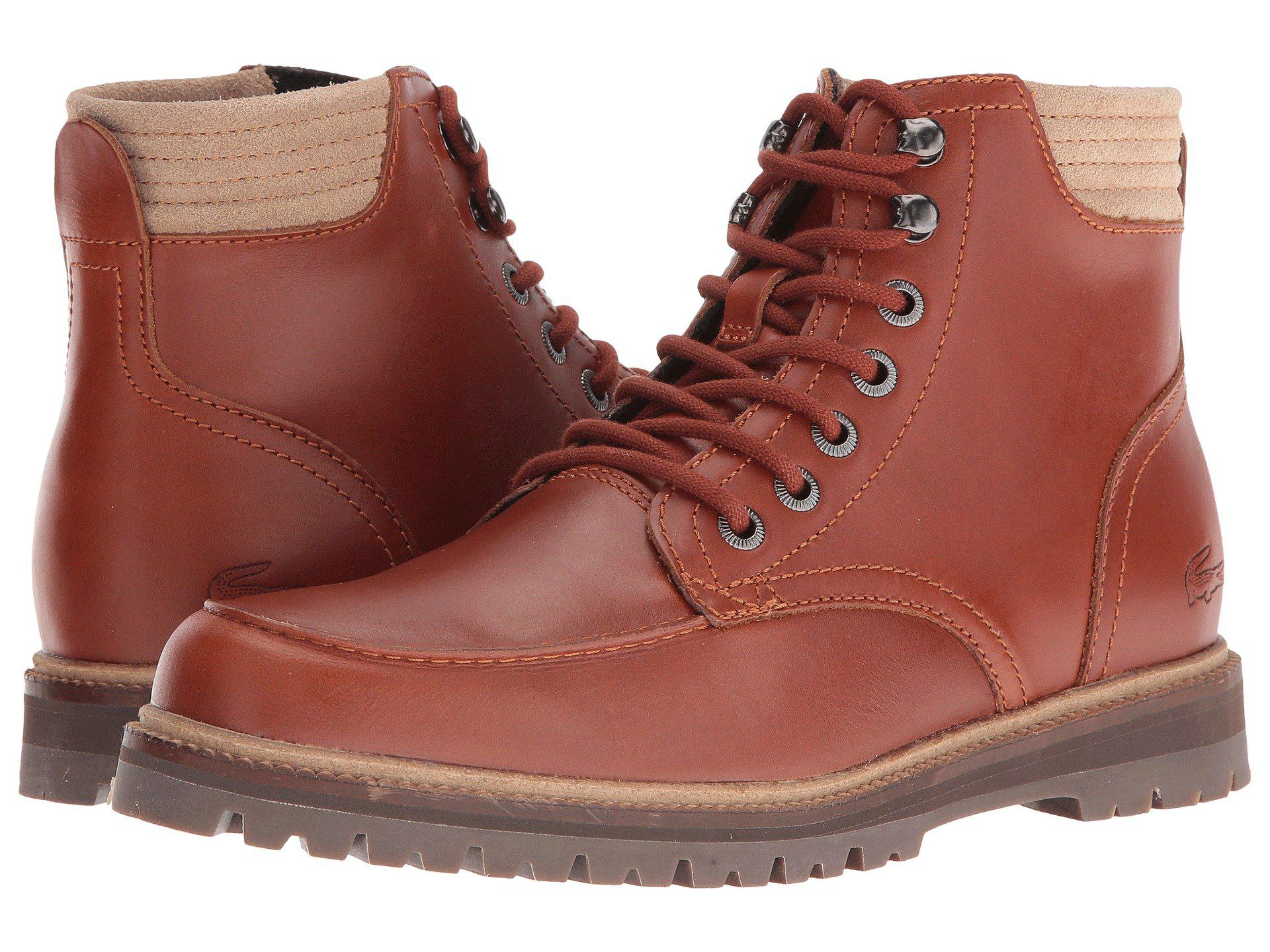 370ab532bb9c Lyst - Lacoste Montbard Boot 416 1 in Brown for Men - Save 40%