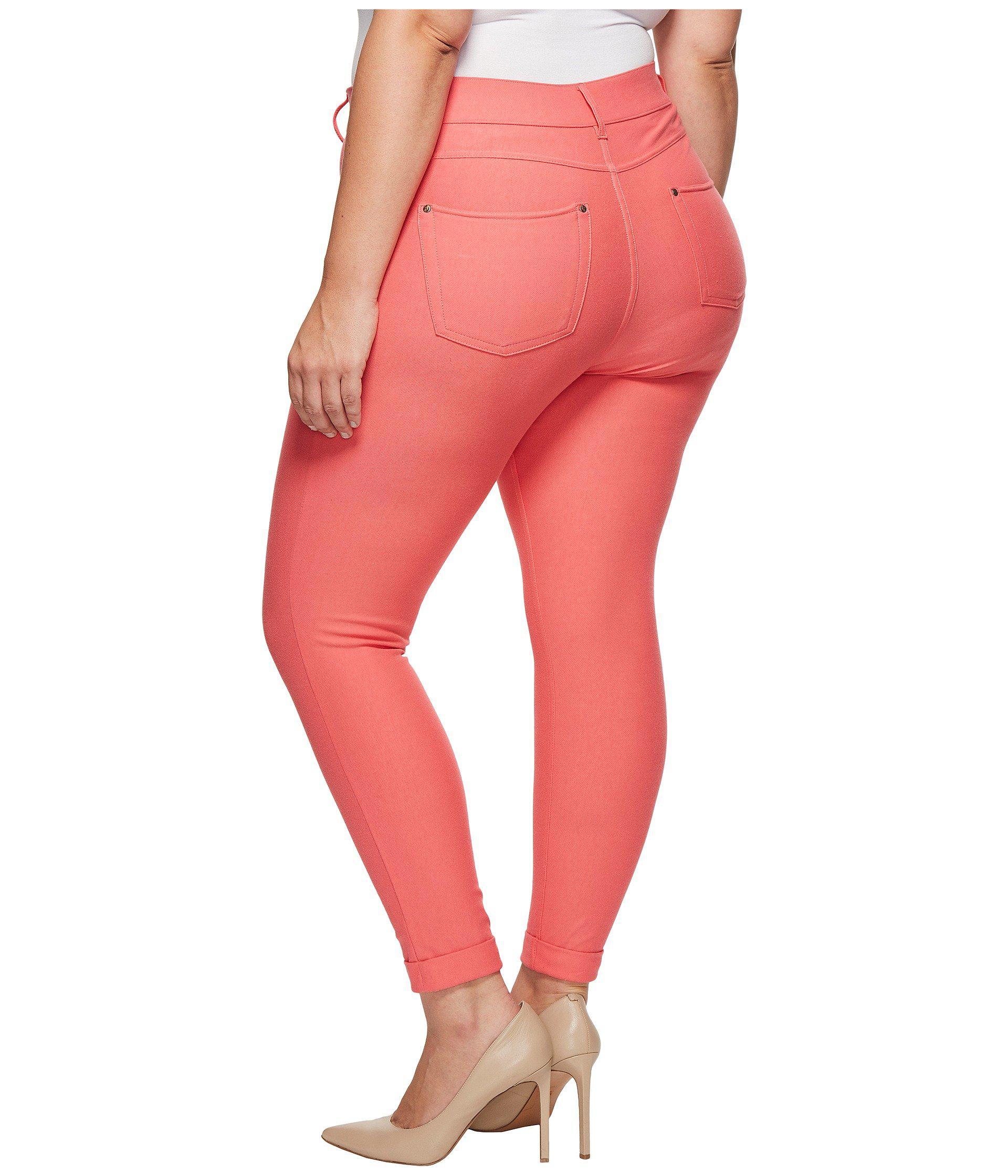 34ba26d47edf Lyst - Hue Plus Size Cuffed Essential Denim Skimmer in Pink - Save 24%
