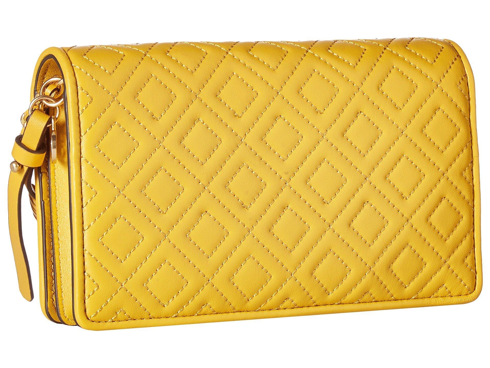 f5859e69a49b Tory Burch - Yellow Fleming Flat Wallet Crossbody - Lyst. View fullscreen