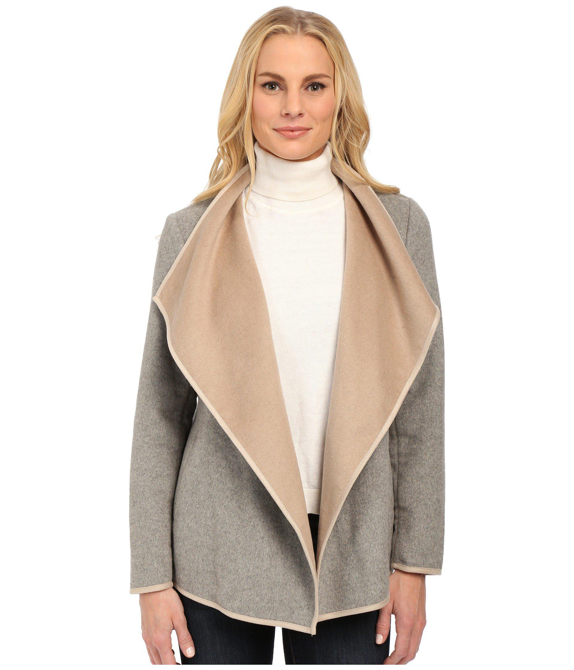 lyst coat clothing dakota khaki jack s in front drape women natural abreila drapes bb